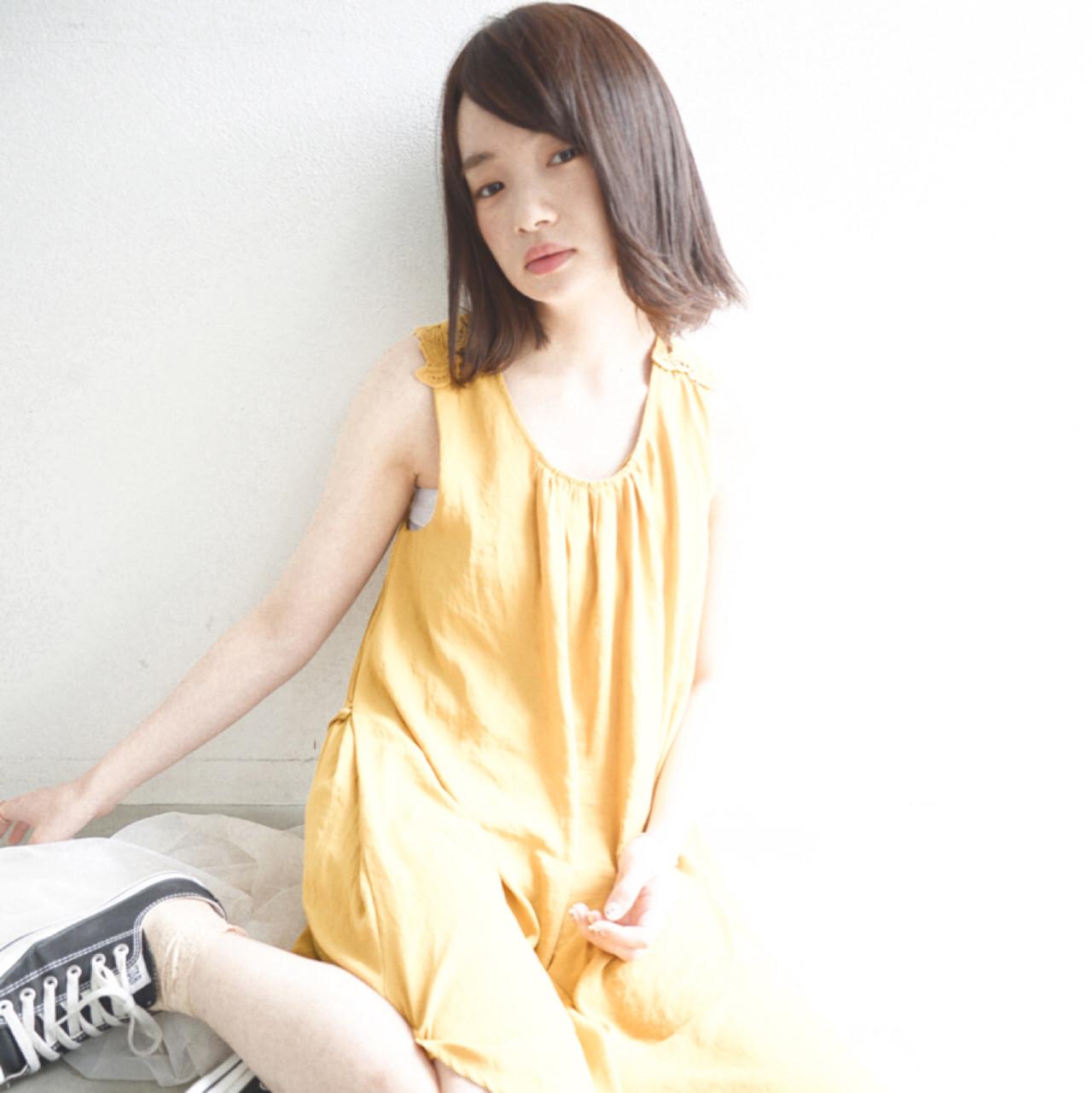 ピュア ボブ 外国人風 フェミニン ヘアスタイルや髪型の写真・画像