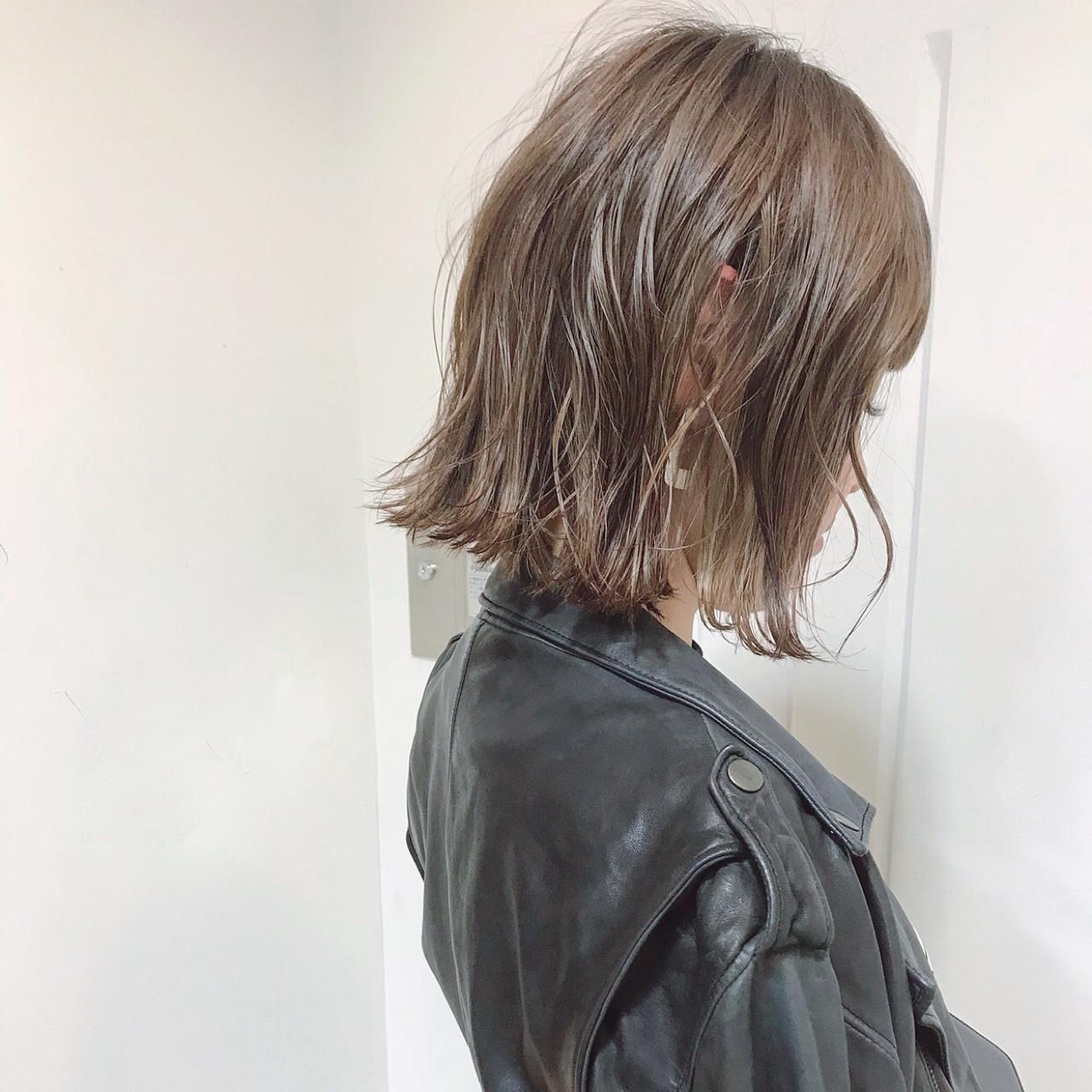 ゆるふわ ナチュラル ロブ ボブ ヘアスタイルや髪型の写真・画像