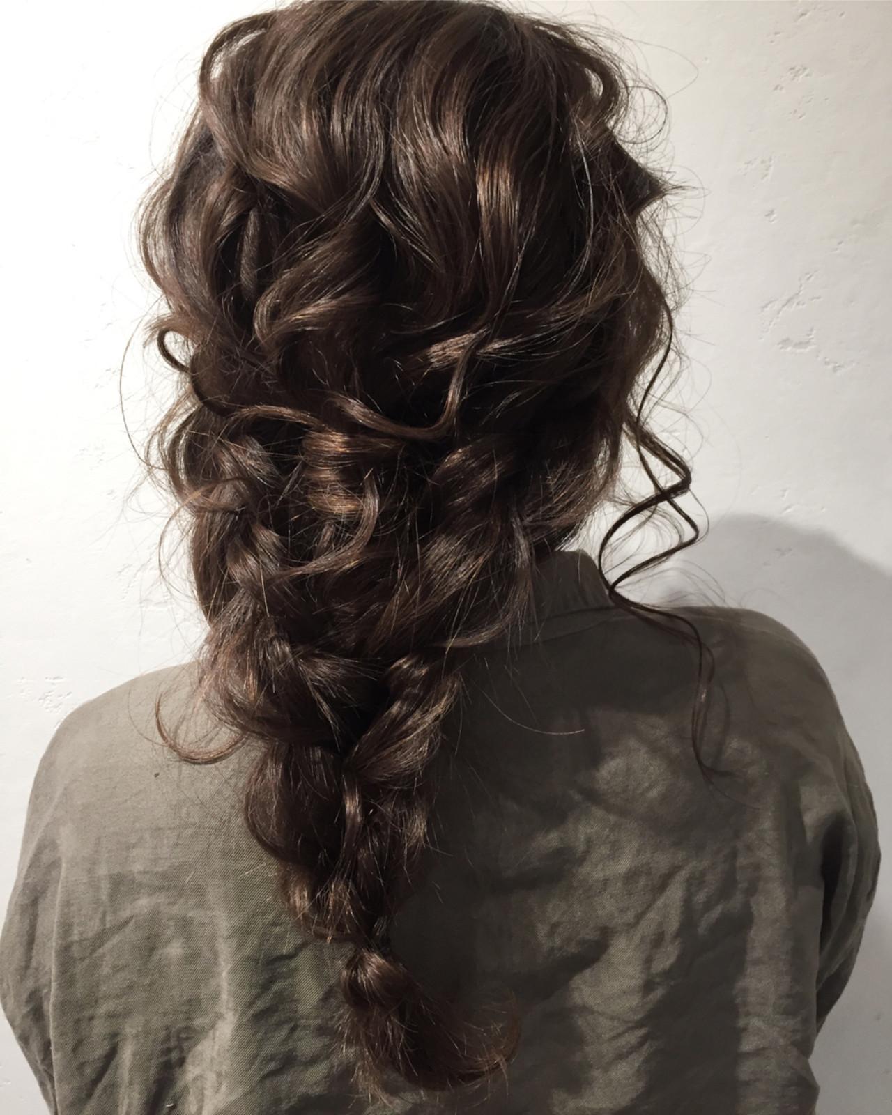 編み込み ヘアアレンジ 結婚式 簡単ヘアアレンジ ヘアスタイルや髪型の写真・画像   Misaki Arima / Hammock hair salon cocona