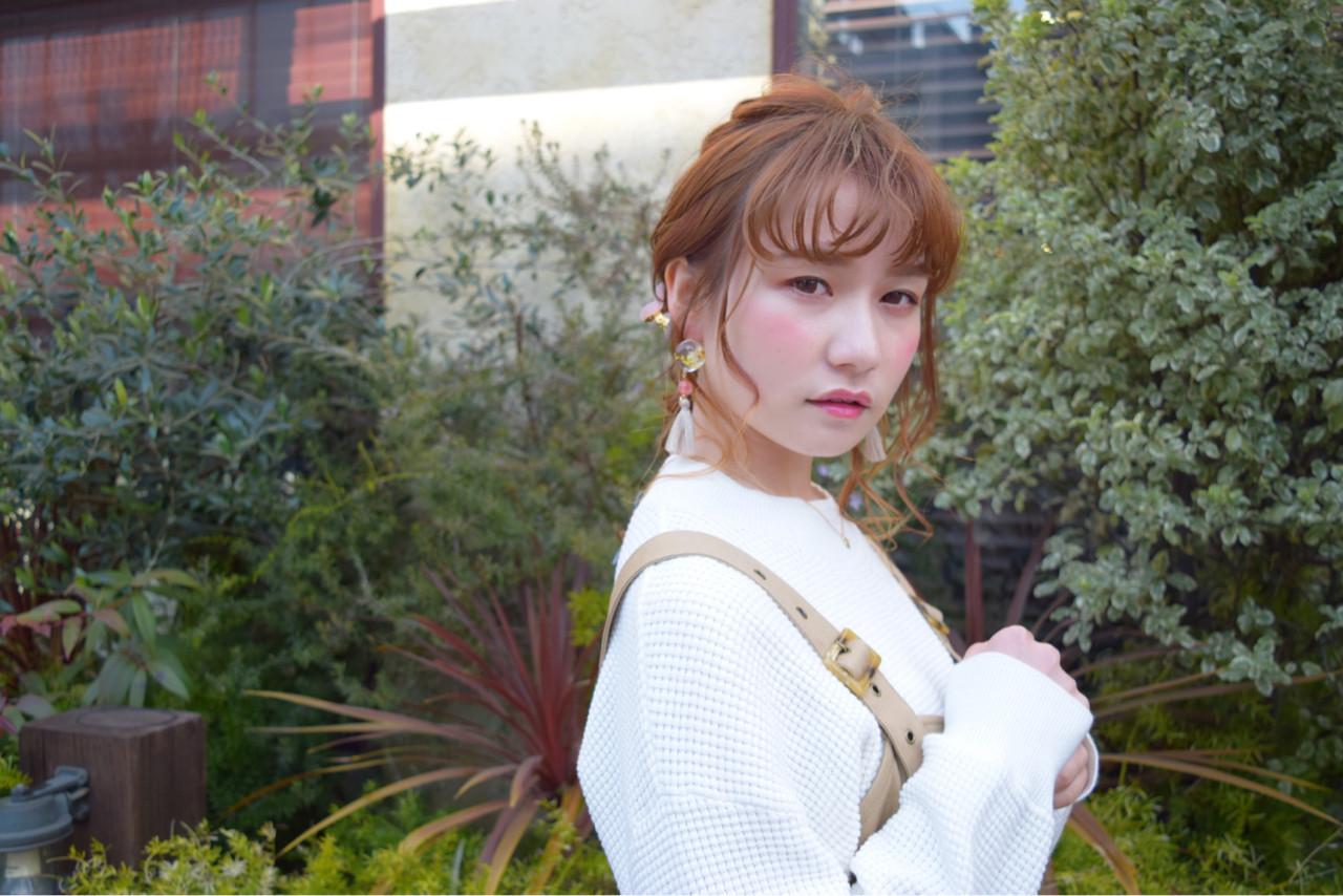 ヘアアレンジ ミディアム デート 簡単ヘアアレンジ ヘアスタイルや髪型の写真・画像 | hironao murakami / Eight渋谷本店