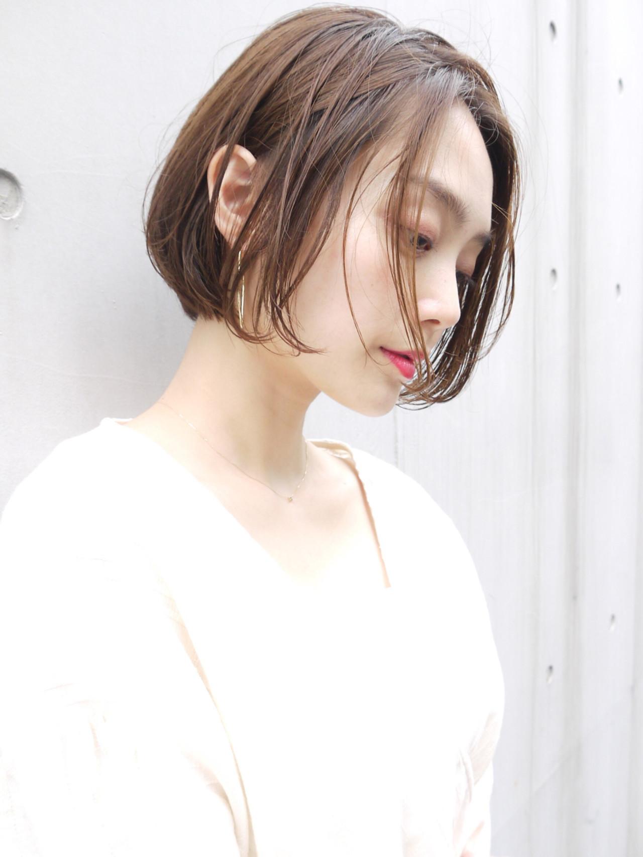 ショートボブ コンサバ オフィス 女子力 ヘアスタイルや髪型の写真・画像