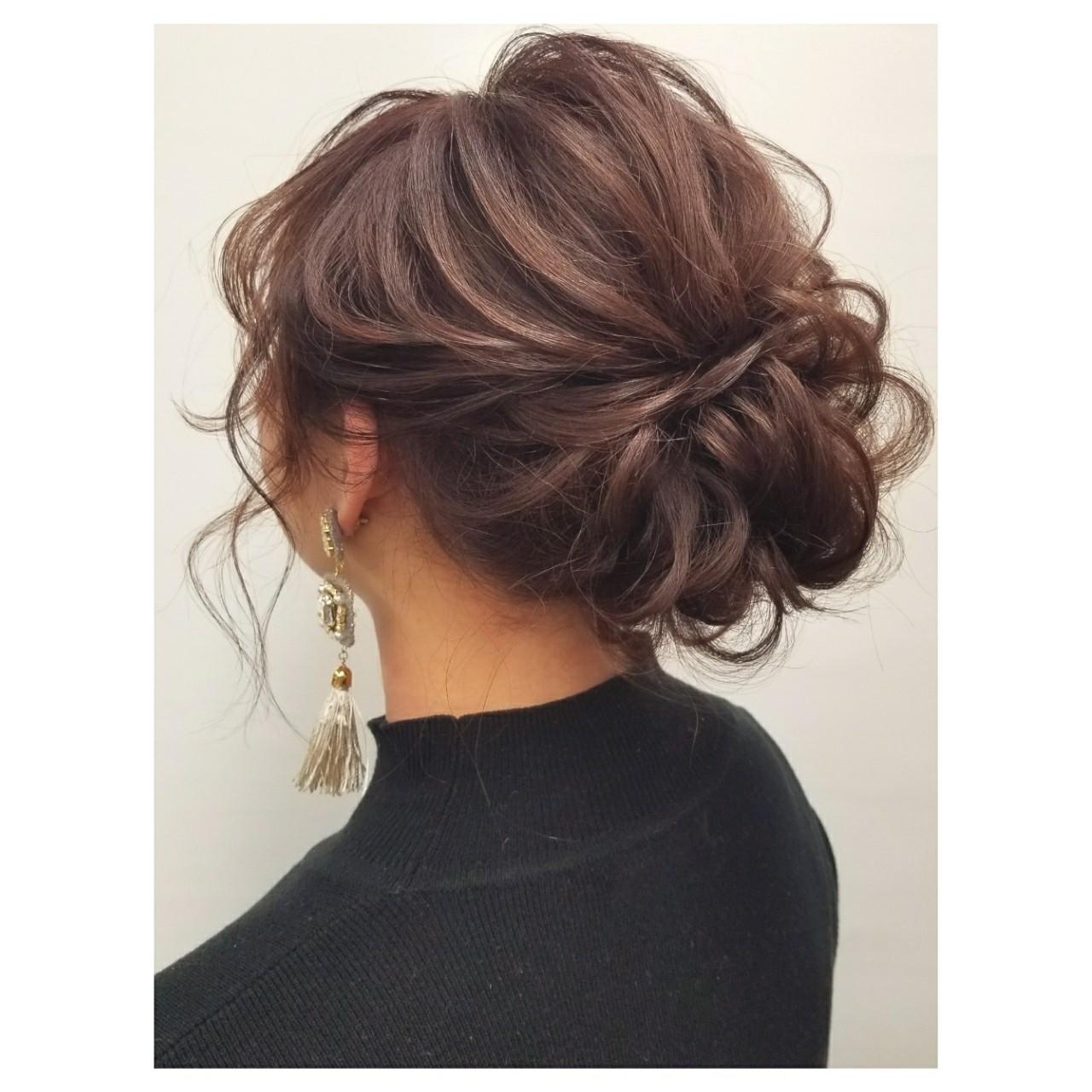 成人式 謝恩会 フェミニン デート ヘアスタイルや髪型の写真・画像