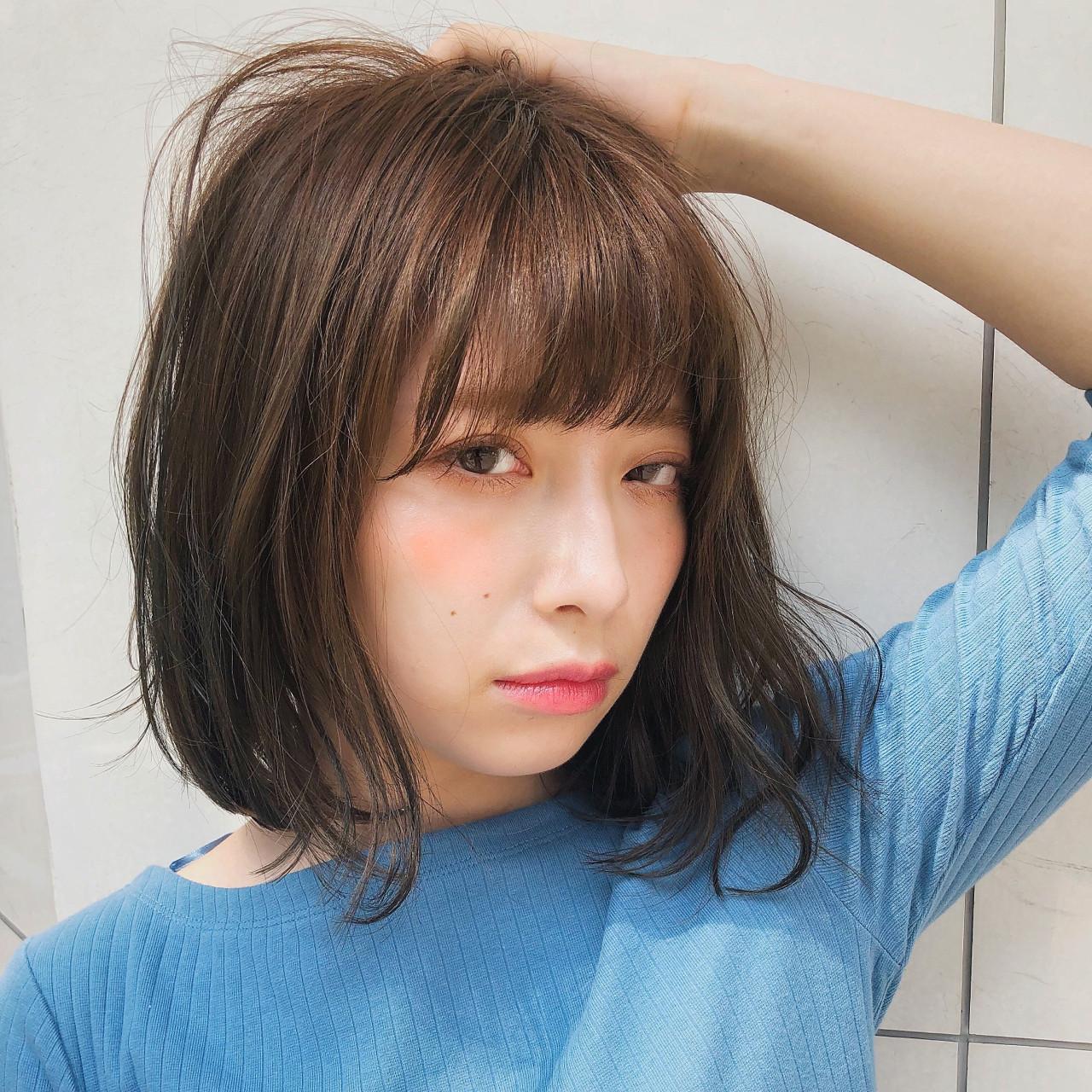 デート 色気 抜け感 前髪あり ヘアスタイルや髪型の写真・画像