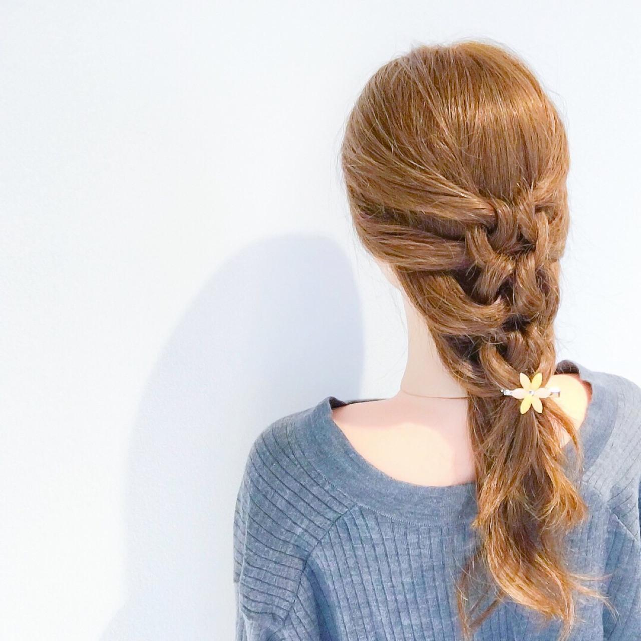 アウトドア 簡単ヘアアレンジ デート セミロング ヘアスタイルや髪型の写真・画像   美容師HIRO/Amoute代表 / Amoute/アムティ