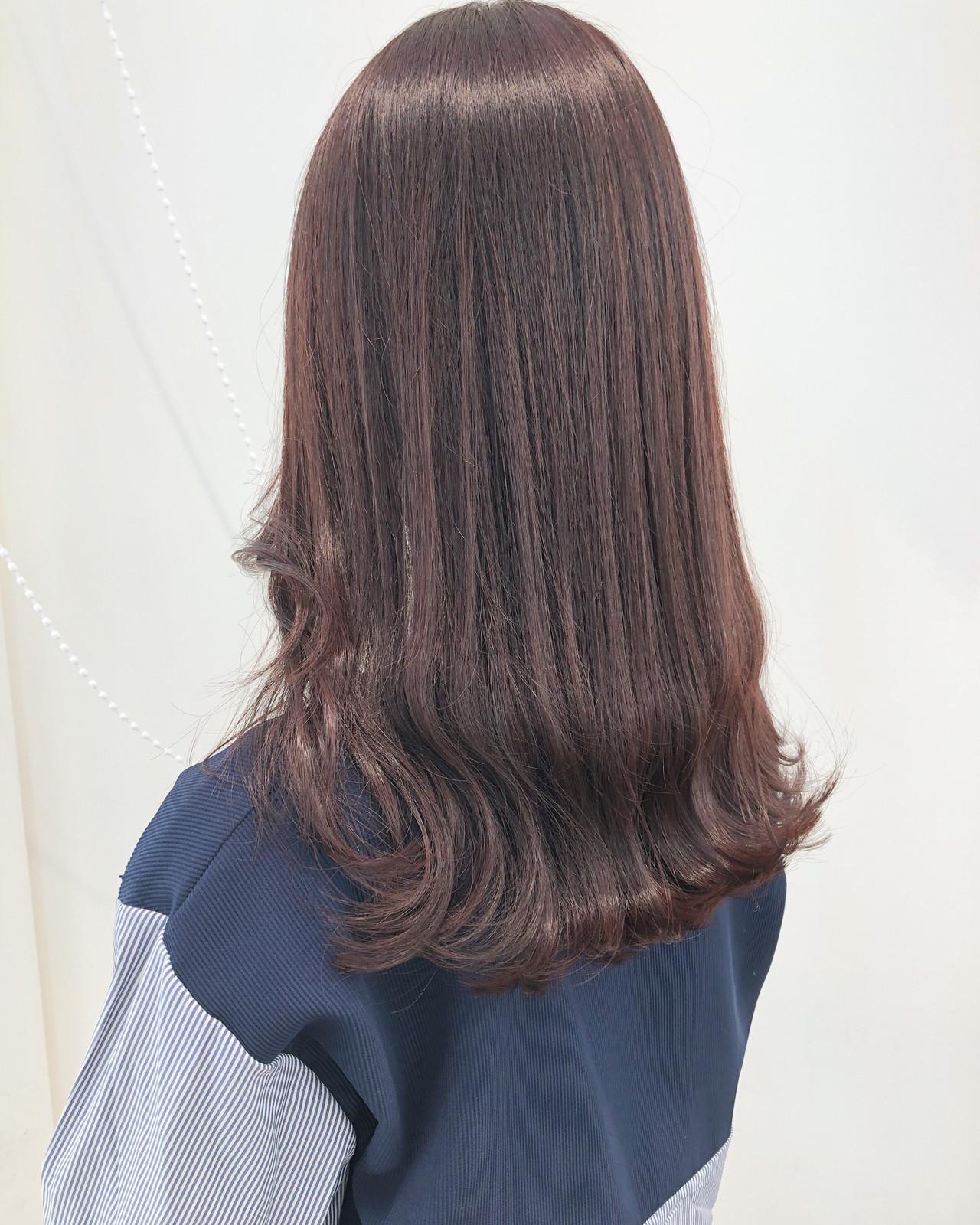レッド オルチャン ロング ピンク ヘアスタイルや髪型の写真・画像   市岡 久 / BLANCOtres