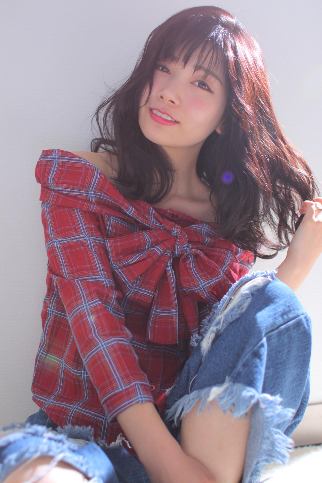 モテ髪 撮影 大人かわいい ロング ヘアスタイルや髪型の写真・画像