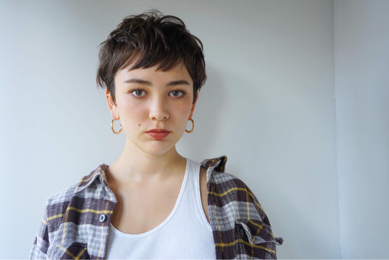 ナチュラル 束感 マッシュ ショート ヘアスタイルや髪型の写真・画像 | 鈴木 成治 / LOAVE AOYAMA(ローヴ アオヤマ)