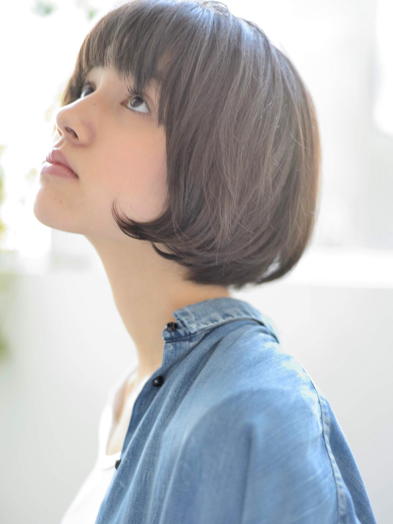 ショートヘア ショートマッシュ ナチュラル ショート ヘアスタイルや髪型の写真・画像