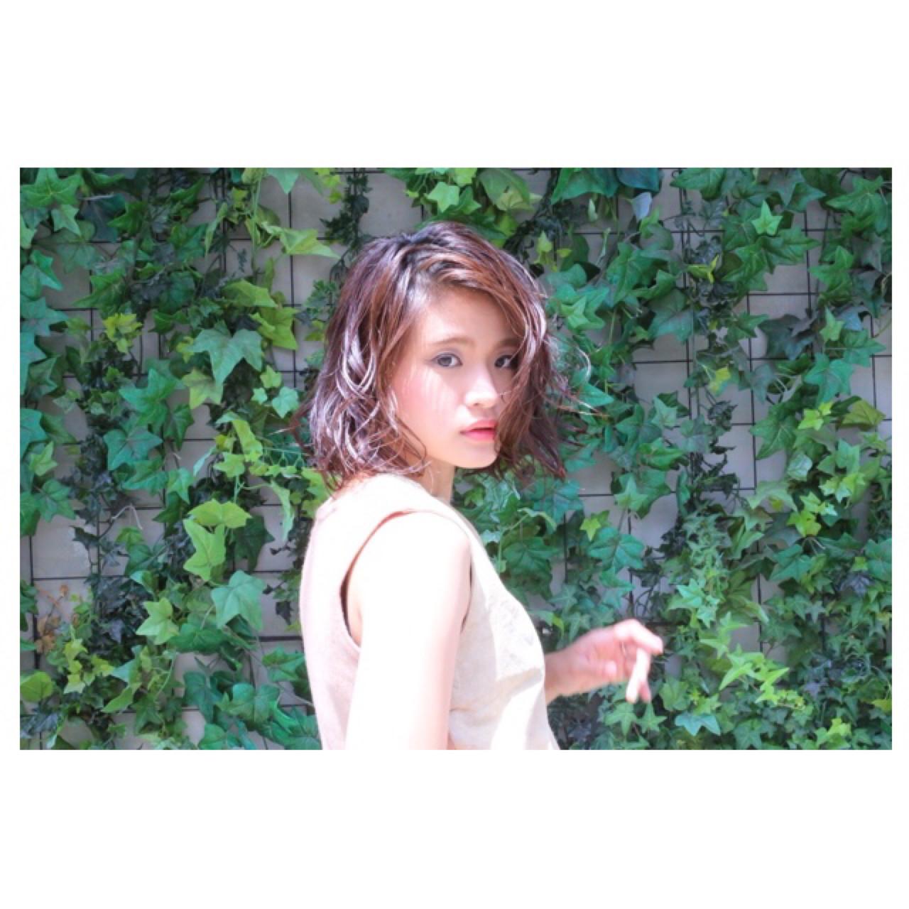 くせ毛風 外国人風 ゆるふわ グラデーションカラー ヘアスタイルや髪型の写真・画像 | AKI / park by merry / park by merry
