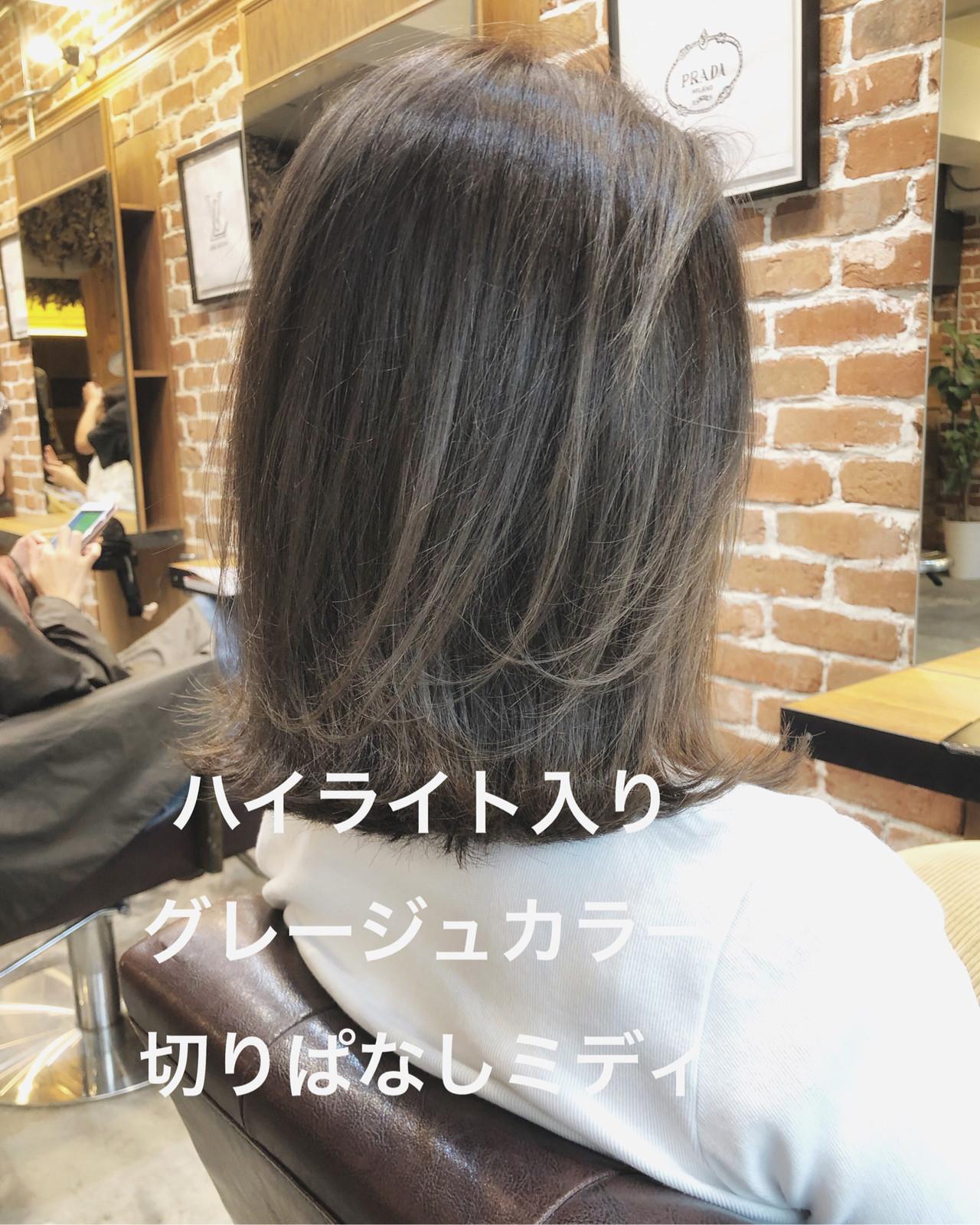 イルミナカラー グレージュ ナチュラル パーマ ヘアスタイルや髪型の写真・画像