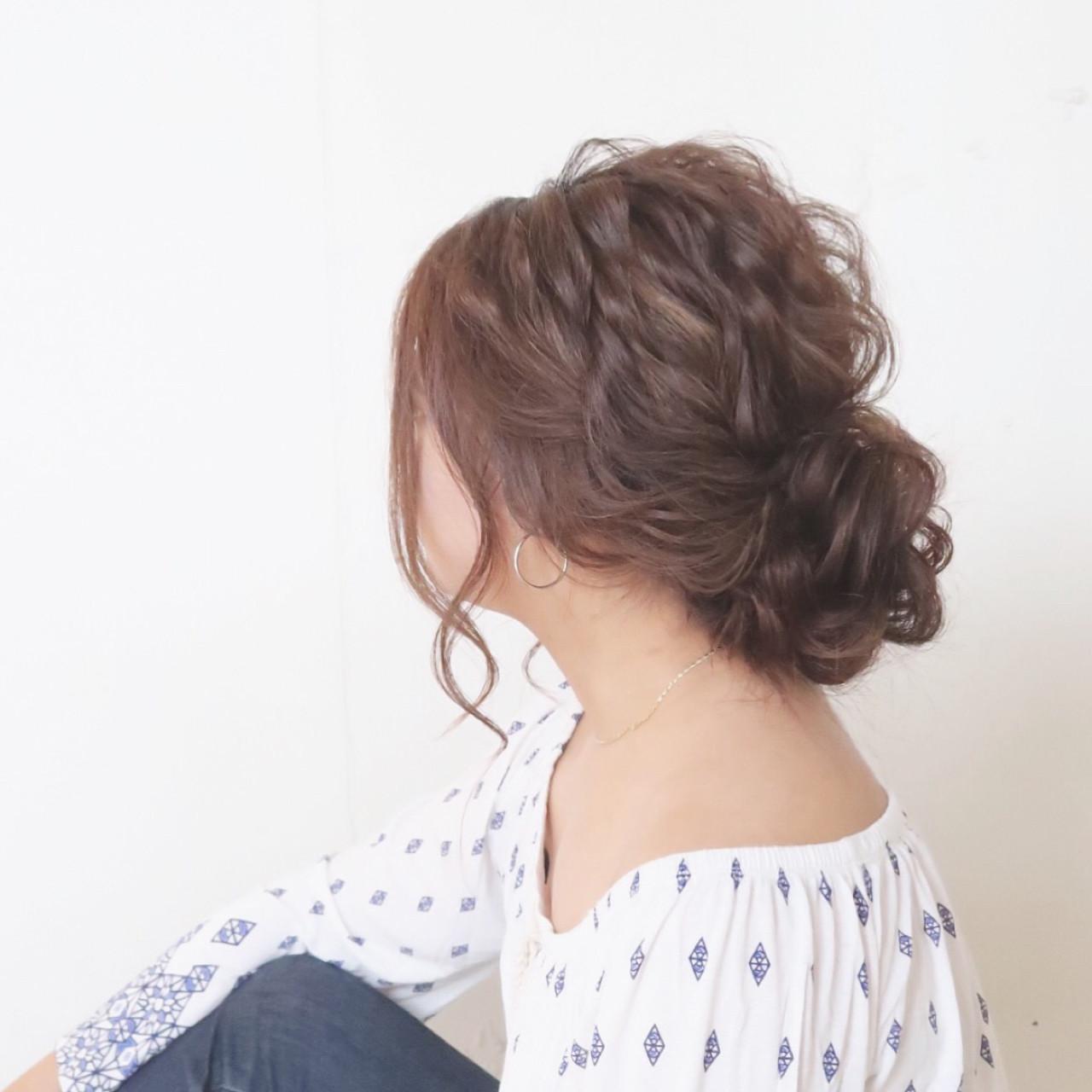 リラックス ヘアアレンジ ナチュラル ゆるふわ ヘアスタイルや髪型の写真・画像