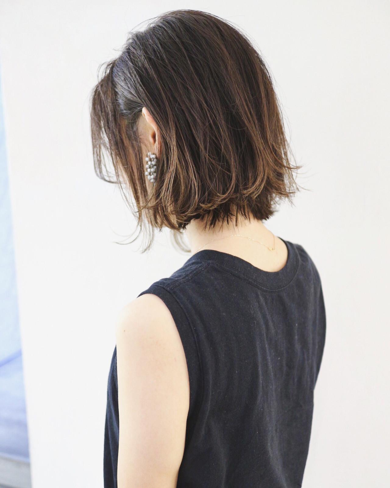 グラデーションカラー ボブ 外国人風カラー インナーカラー ヘアスタイルや髪型の写真・画像