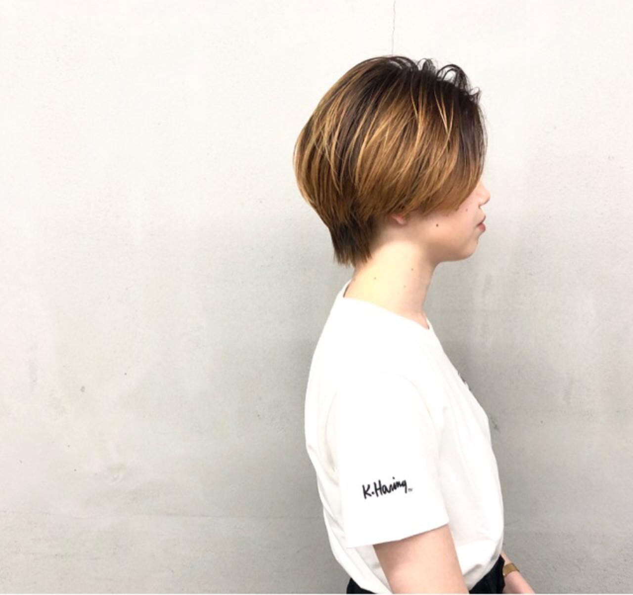 ハンサムショート 大人ショート ショートヘア ナチュラル ヘアスタイルや髪型の写真・画像