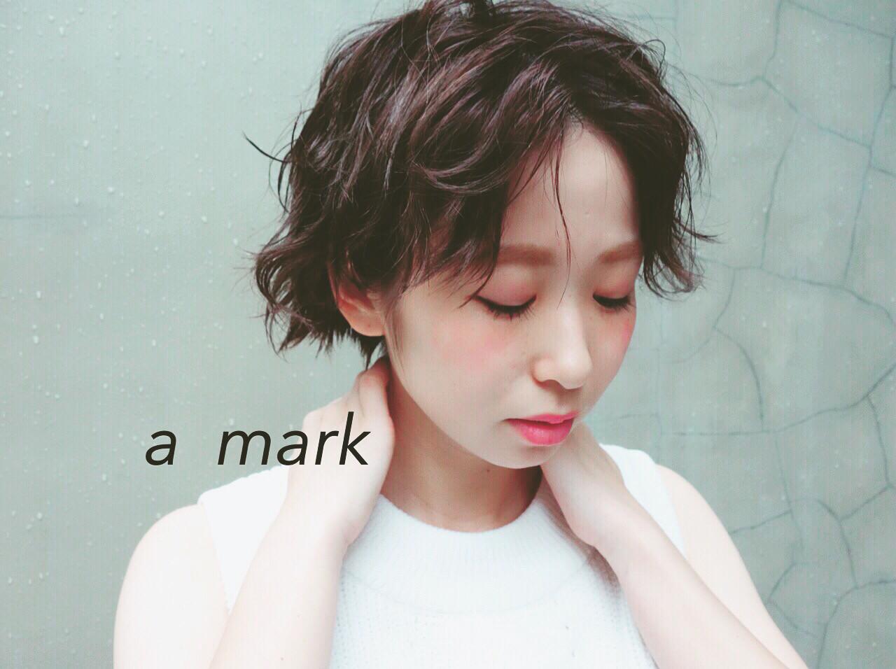 ショート ストリート 外ハネ ウェットヘア ヘアスタイルや髪型の写真・画像 | 土谷 庄之介 / a  mark