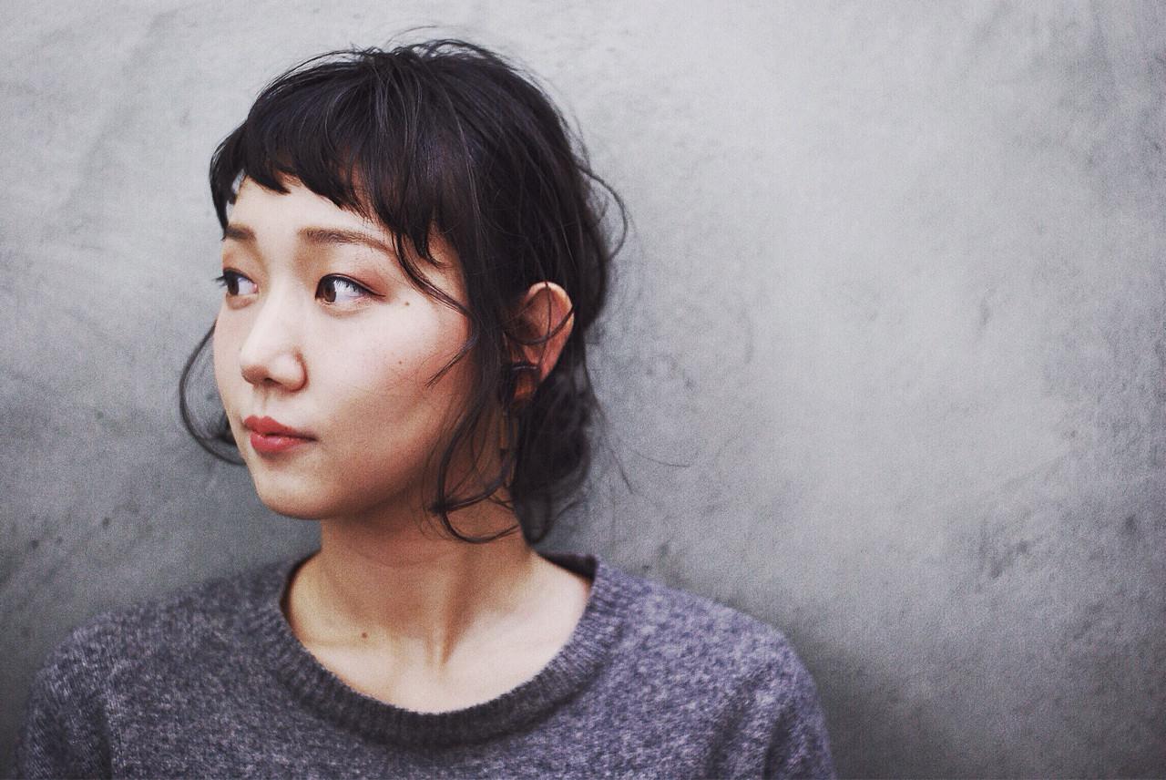 抜け感 ボブ 黒髪 ショート ヘアスタイルや髪型の写真・画像   木藤裕作 / temae