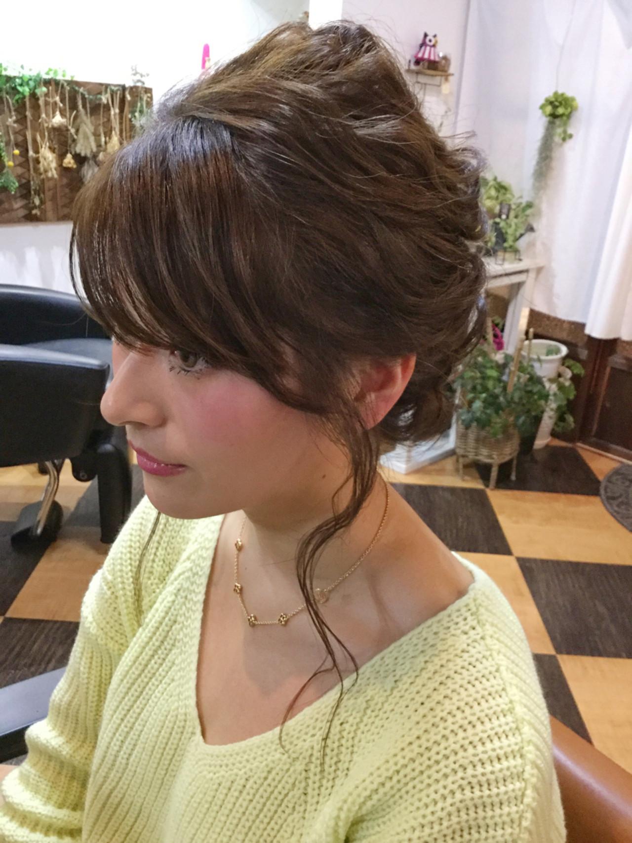 簡単ヘアアレンジ モテ髪 ショート ヘアアレンジ ヘアスタイルや髪型の写真・画像
