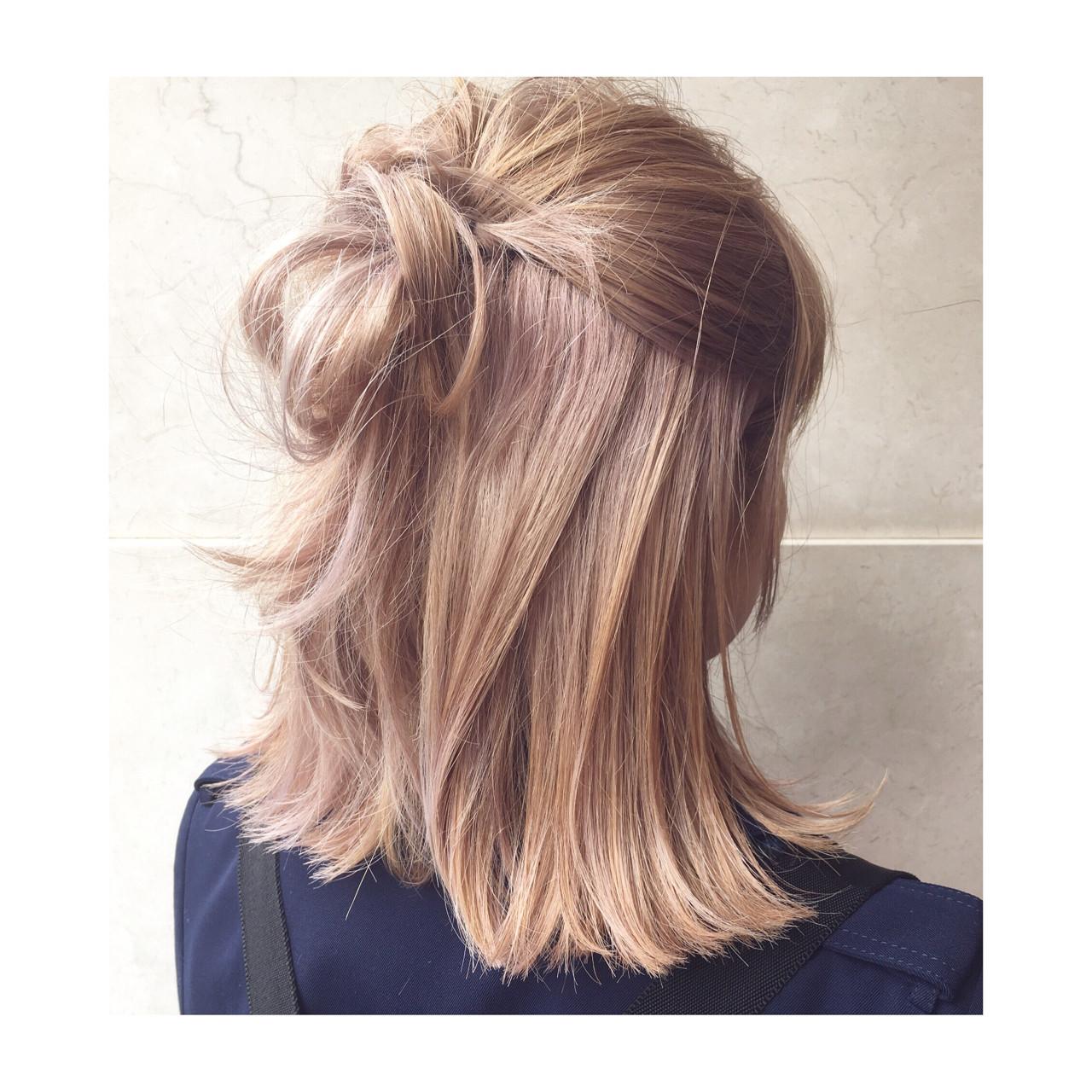 大人かわいい ミディアム 重ため ミルクティー ヘアスタイルや髪型の写真・画像 | 西嶋えり子 / HAIR'S Lunetta