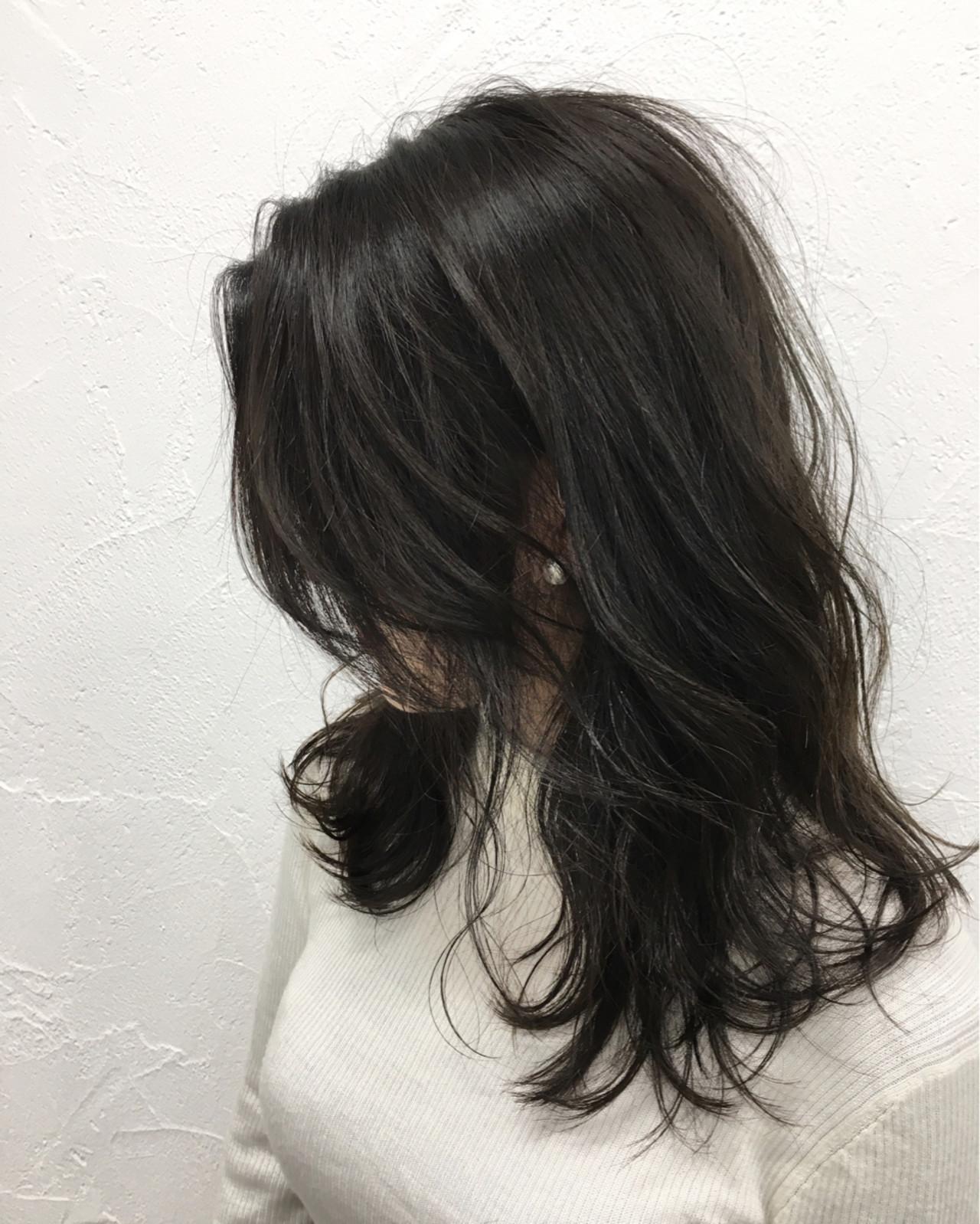 外国人風 アッシュ 暗髪 ストリート ヘアスタイルや髪型の写真・画像 | 田中晋也 / prize(プライズ)表参道店