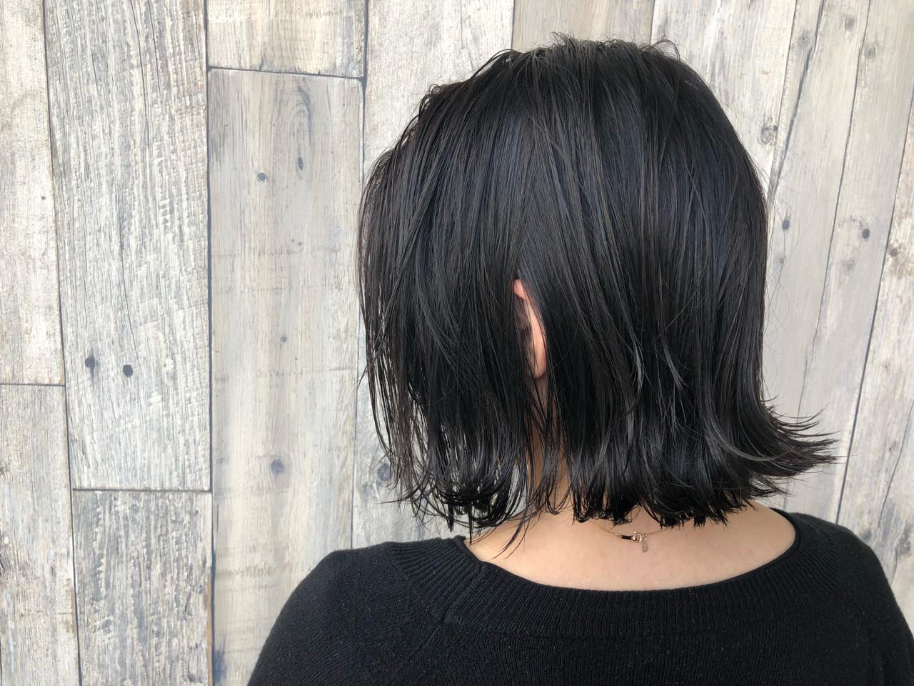 イルミナカラー ボブ モード 外ハネ ヘアスタイルや髪型の写真・画像   宇渡 裕一 / Lillie hair&spa