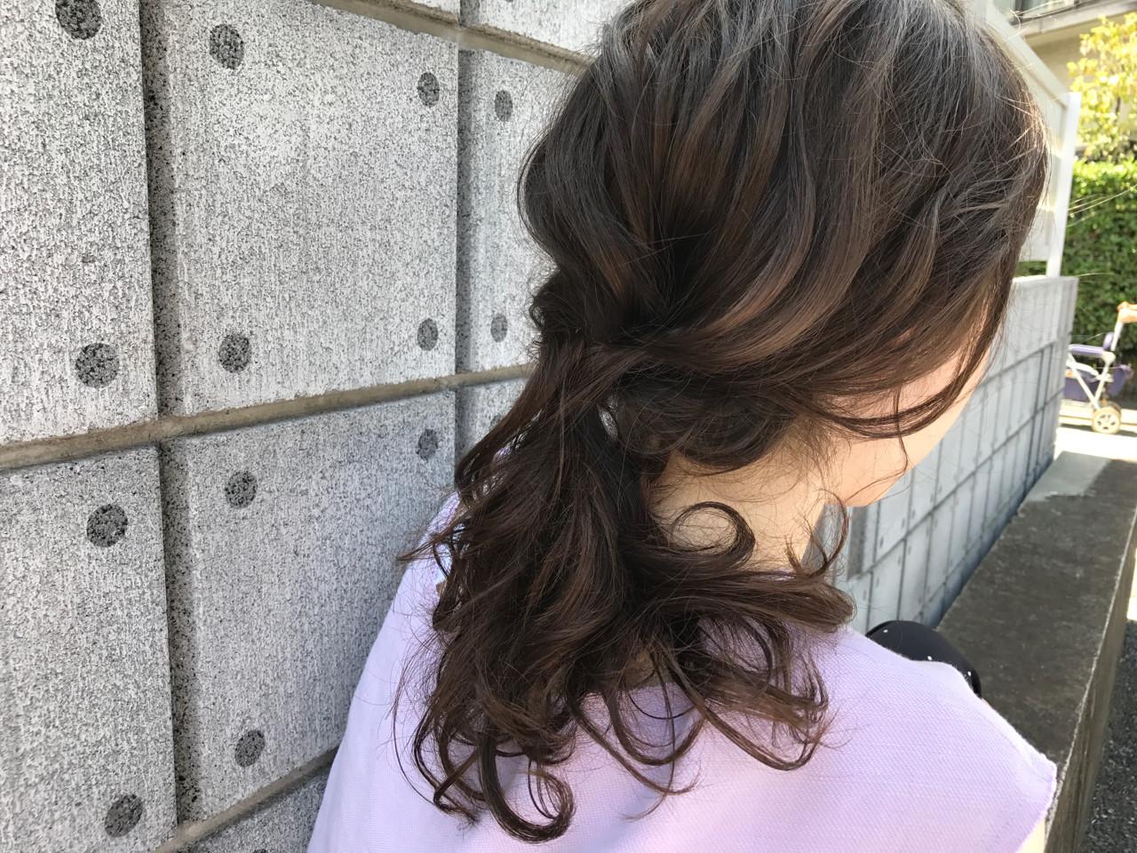 涼しげ フェミニン ヘアアレンジ 夏 ヘアスタイルや髪型の写真・画像