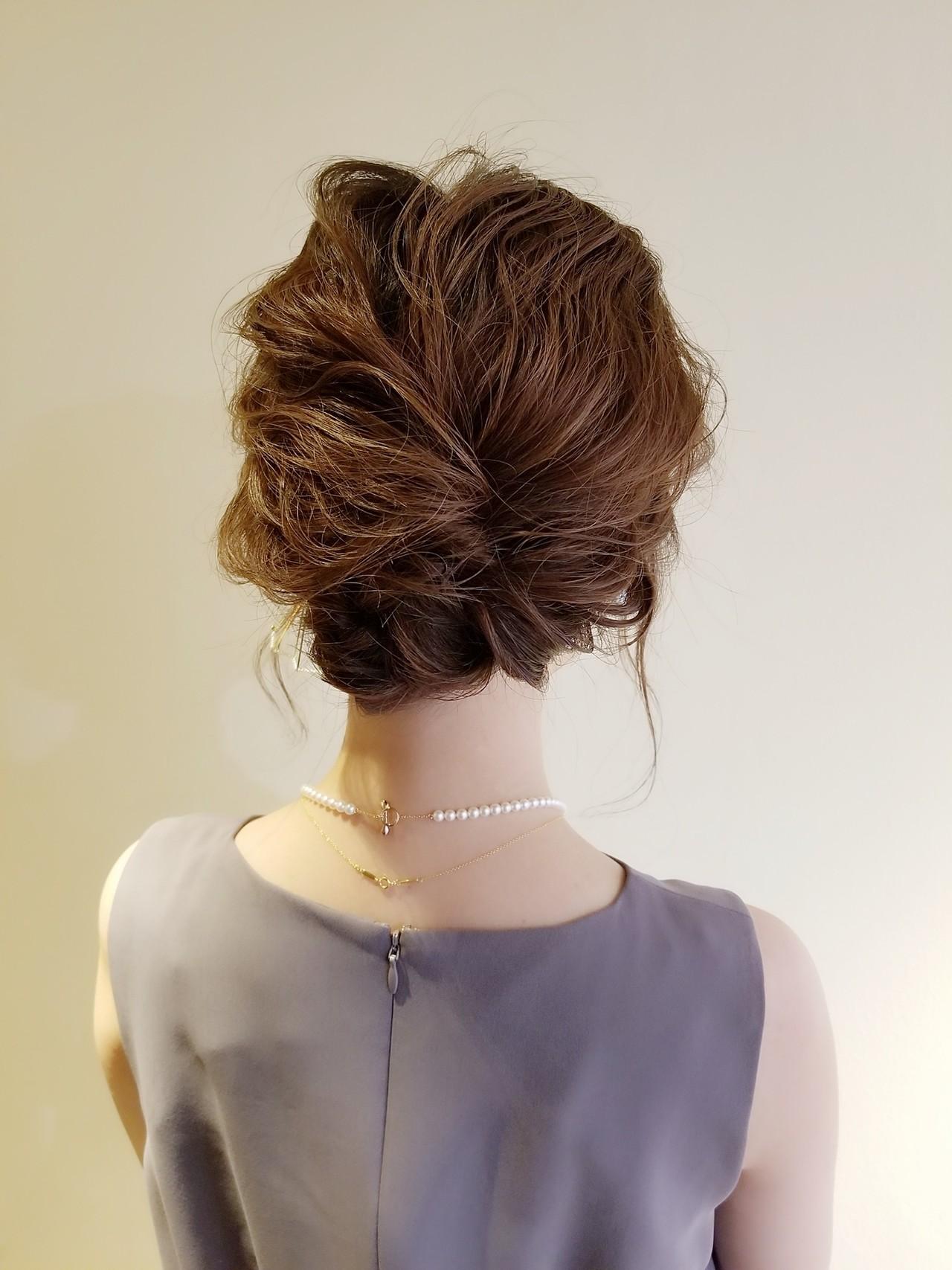 ナチュラル 簡単ヘアアレンジ ヘアアレンジ セミロング ヘアスタイルや髪型の写真・画像 | Naoko Miura / avant
