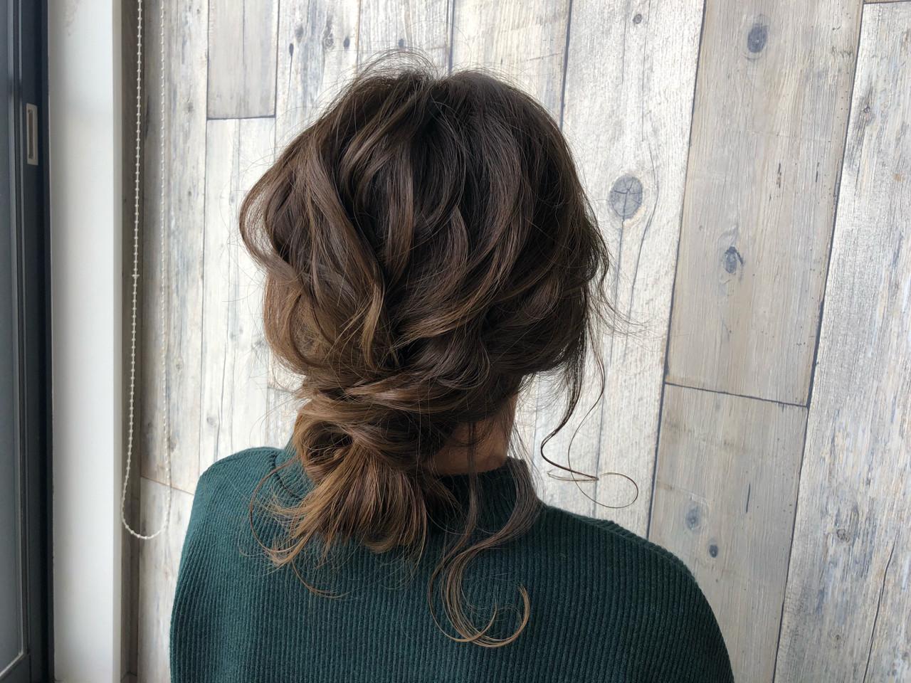 ナチュラル 外国人風 セミロング ヘアアレンジ ヘアスタイルや髪型の写真・画像 | 宇渡 裕一 / Lillie hair&spa