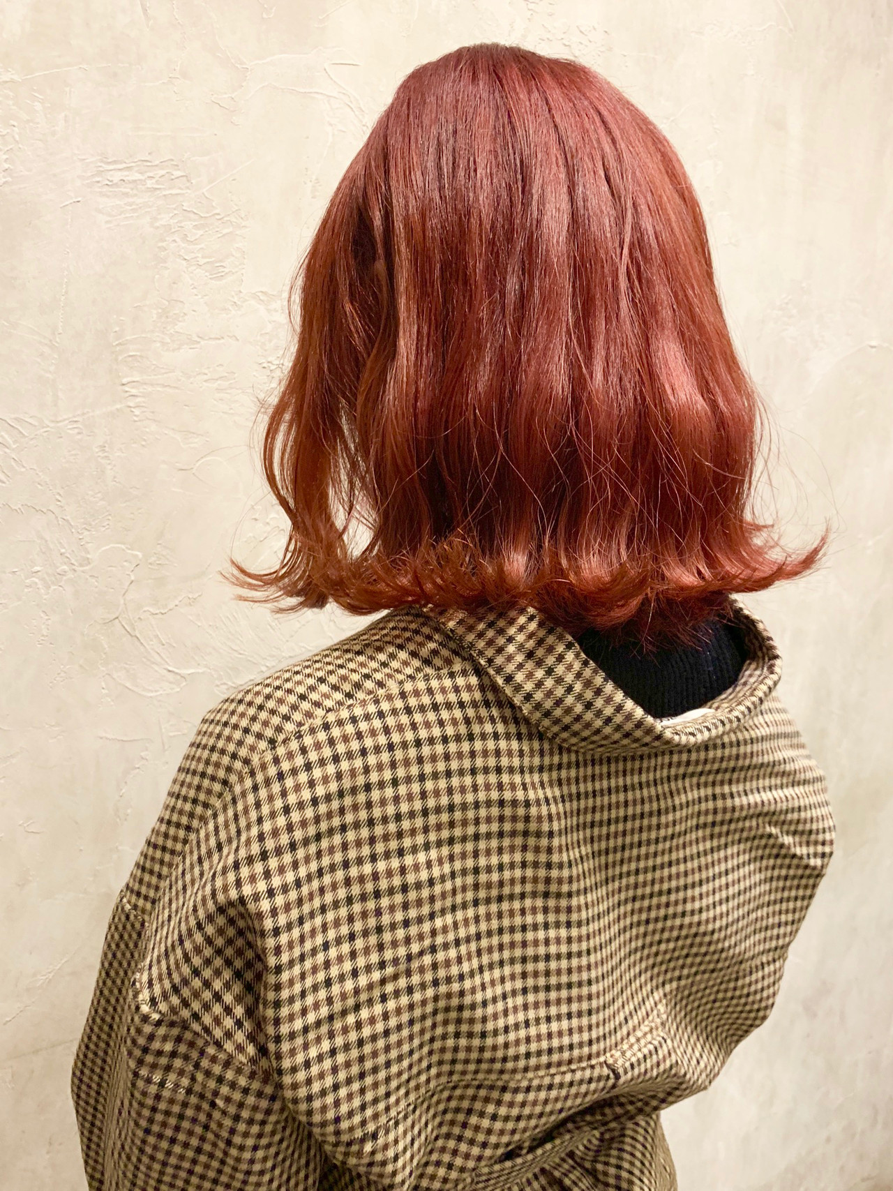 ブリーチ ストリート ミディアム レッド ヘアスタイルや髪型の写真・画像 | 矢野哲也 / FLOWERS 表参道