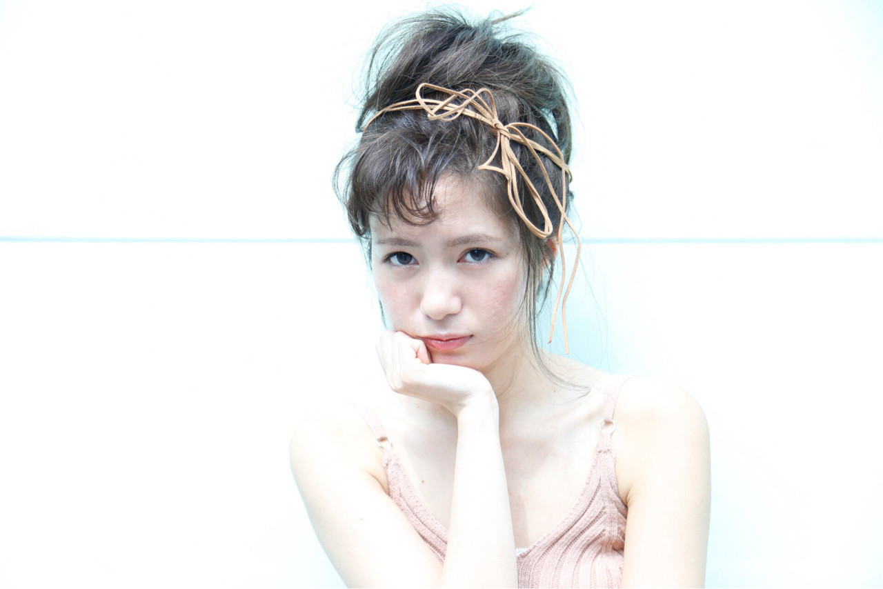 ヘアアレンジ 夏 大人かわいい ナチュラル ヘアスタイルや髪型の写真・画像 | 中村 猛 / MODE K's 塚本店 (モードケイズ)