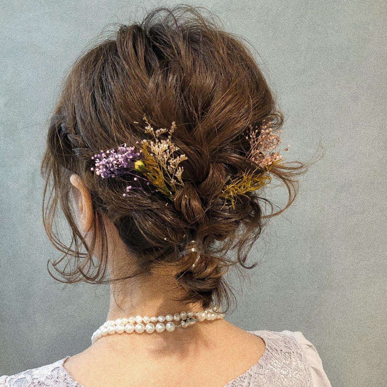 デート ボブ ナチュラル 簡単ヘアアレンジ ヘアスタイルや髪型の写真・画像 | eri / kikkake@depth