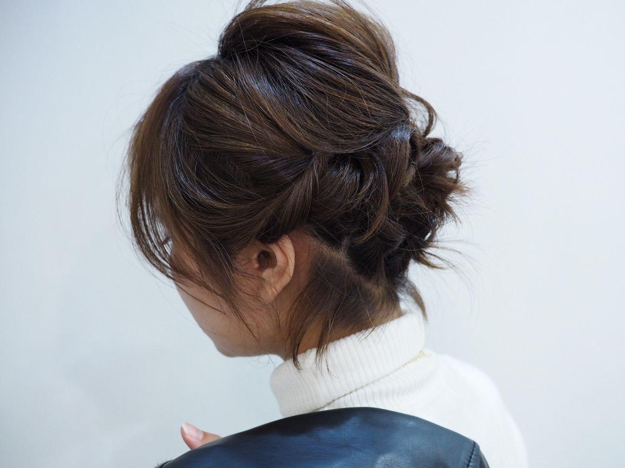 ヘアアレンジ 簡単ヘアアレンジ ボブ かっこいい ヘアスタイルや髪型の写真・画像 | 古川 未来 / Pure Wave-ピュアウェーブ-