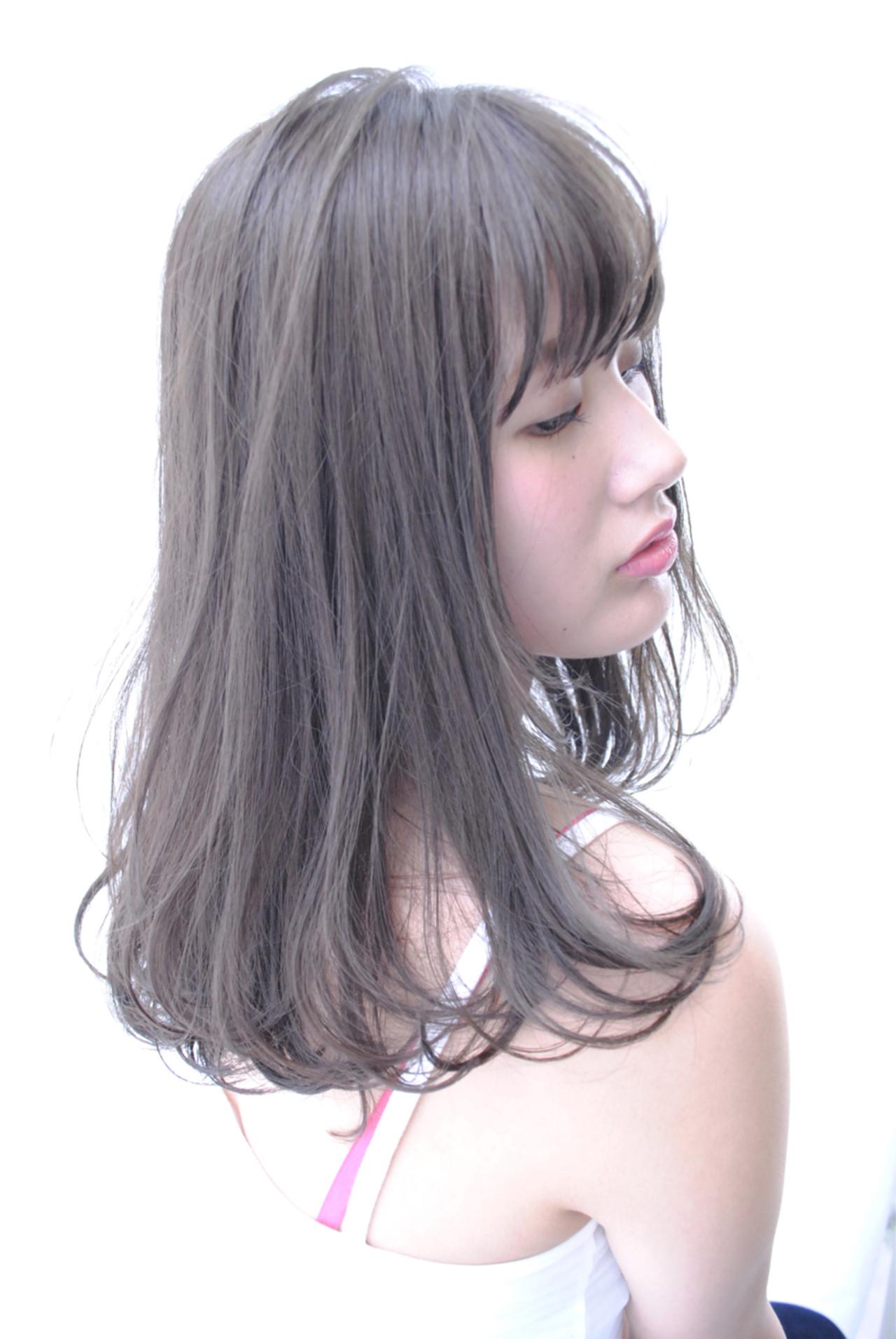 ロング 大人かわいい 黒髪 アッシュ ヘアスタイルや髪型の写真・画像 | 野中 由貴 / owlhair