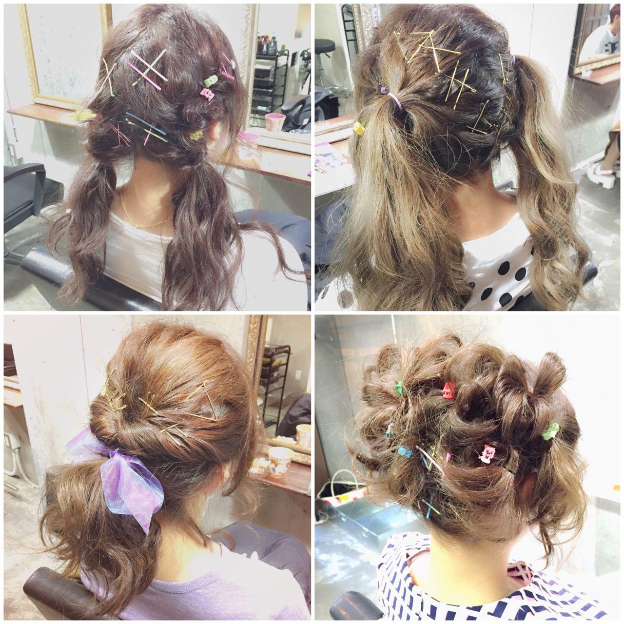 シースルーバング グラデーションカラー ゆるふわ ヘアアレンジ ヘアスタイルや髪型の写真・画像 | MOTAI / Wille / Wille