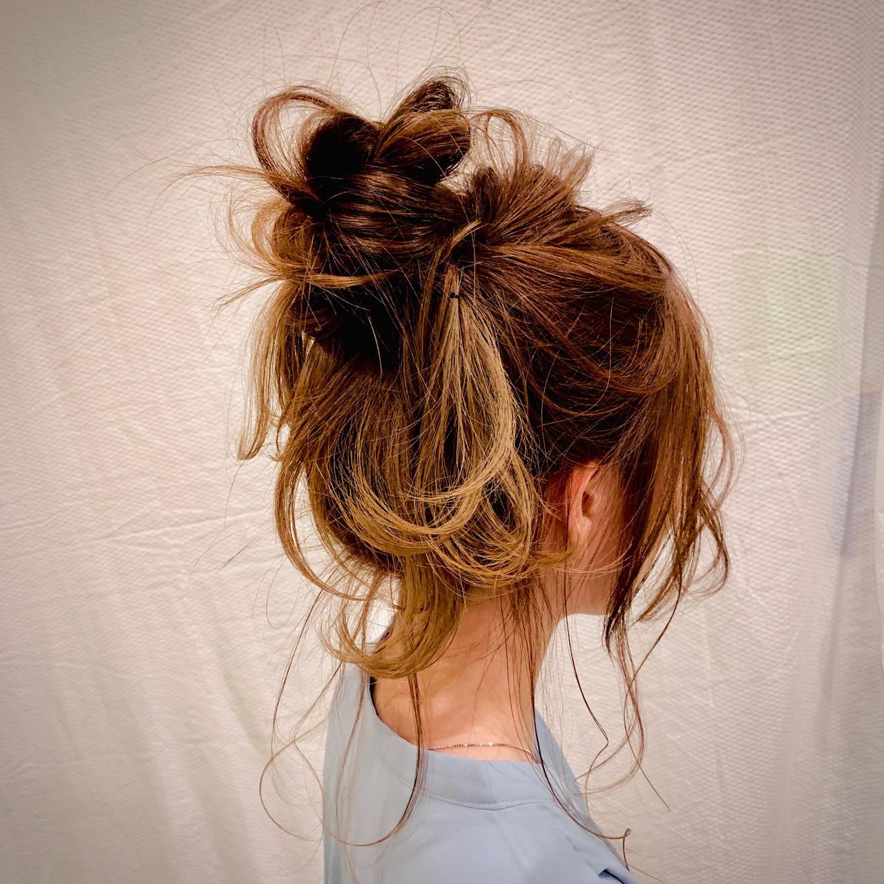 簡単ヘアアレンジ セミロング ヘアアレンジ フェミニン ヘアスタイルや髪型の写真・画像   生田浩明 / hair make cronos