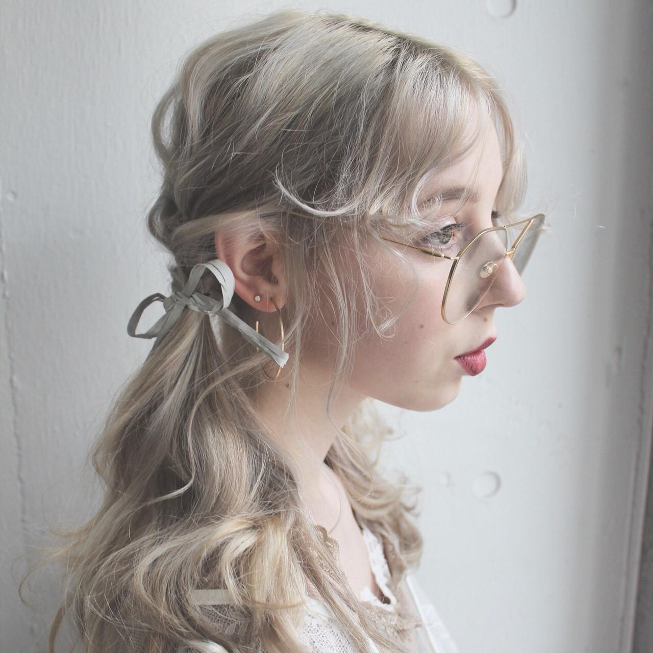 モード パーティ 簡単ヘアアレンジ ミディアム ヘアスタイルや髪型の写真・画像