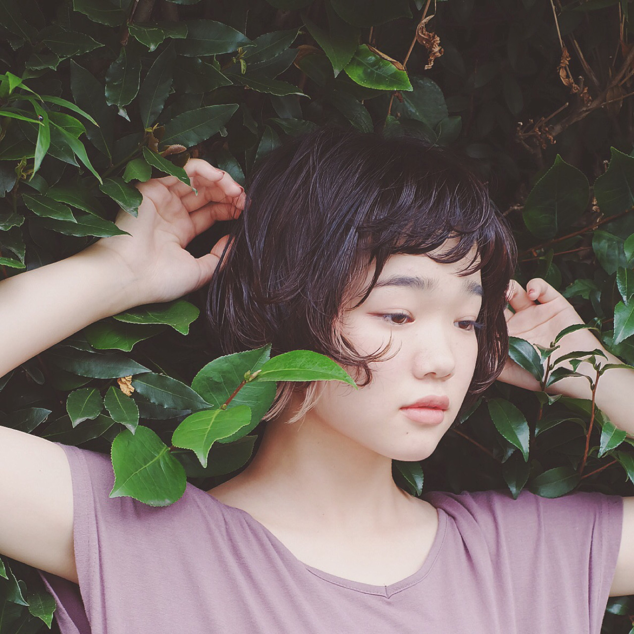 外国人風 ナチュラル 前髪あり 黒髪 ヘアスタイルや髪型の写真・画像 | 鈴木 優子 / morio from LONDON 大宮2