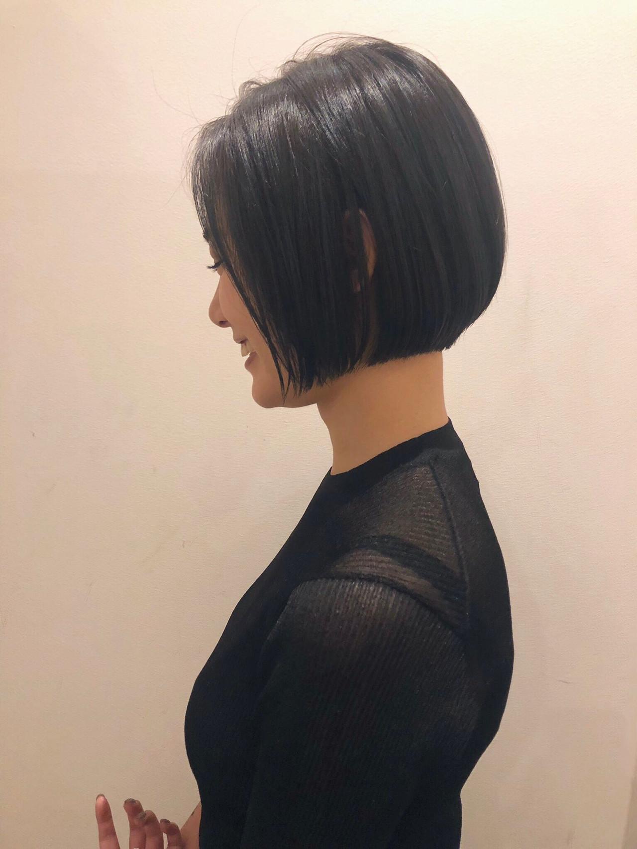 ボブ 黒髪 ショートヘア 黒髪ショート ヘアスタイルや髪型の写真・画像 | hayase (ヨシモトハヤセ) / Nove Lina