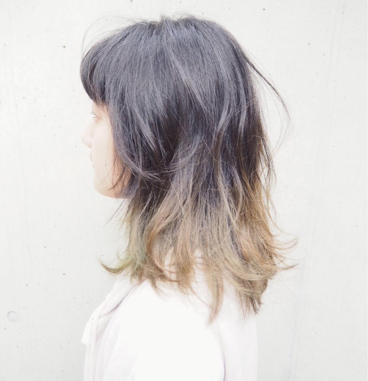 ダブルカラー ストリート ブリーチ ミディアム ヘアスタイルや髪型の写真・画像   Genki Fujikawa / piece201
