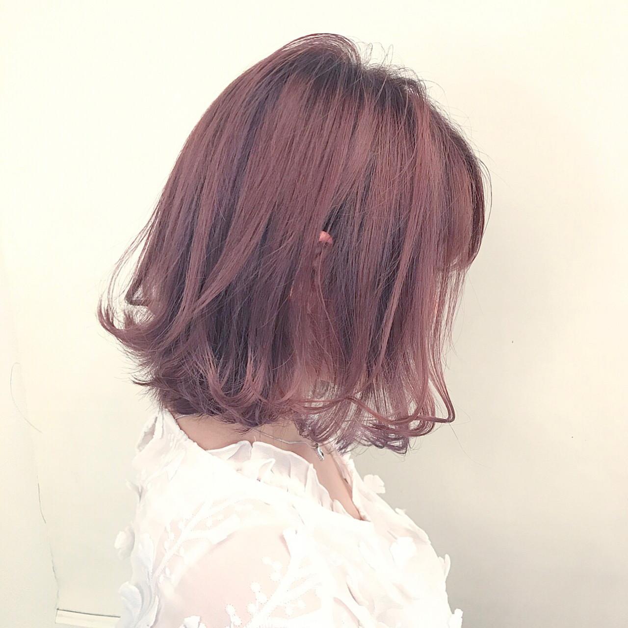 ミルクティー ニュアンス ボブ 色気 ヘアスタイルや髪型の写真・画像 | 落合 健二 / hair ales