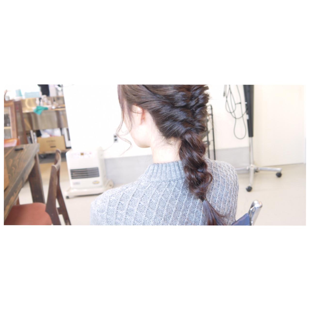 ヘアアレンジ ショート ナチュラル 編み込み ヘアスタイルや髪型の写真・画像