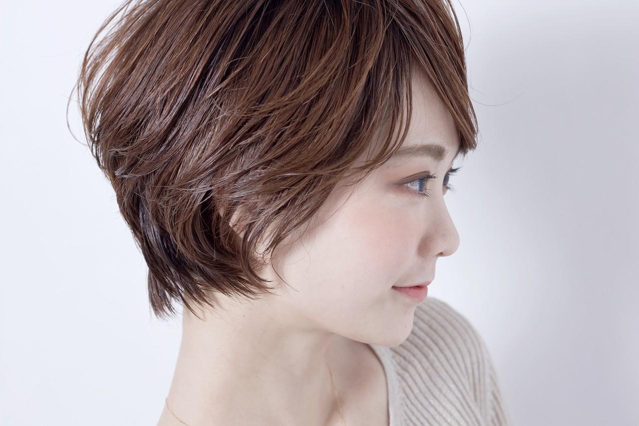 デート ショート パーマ 簡単ヘアアレンジ ヘアスタイルや髪型の写真・画像 | 中高下 由真(なかこうげ ゆうま) / BEAUTRIUM 表参道店