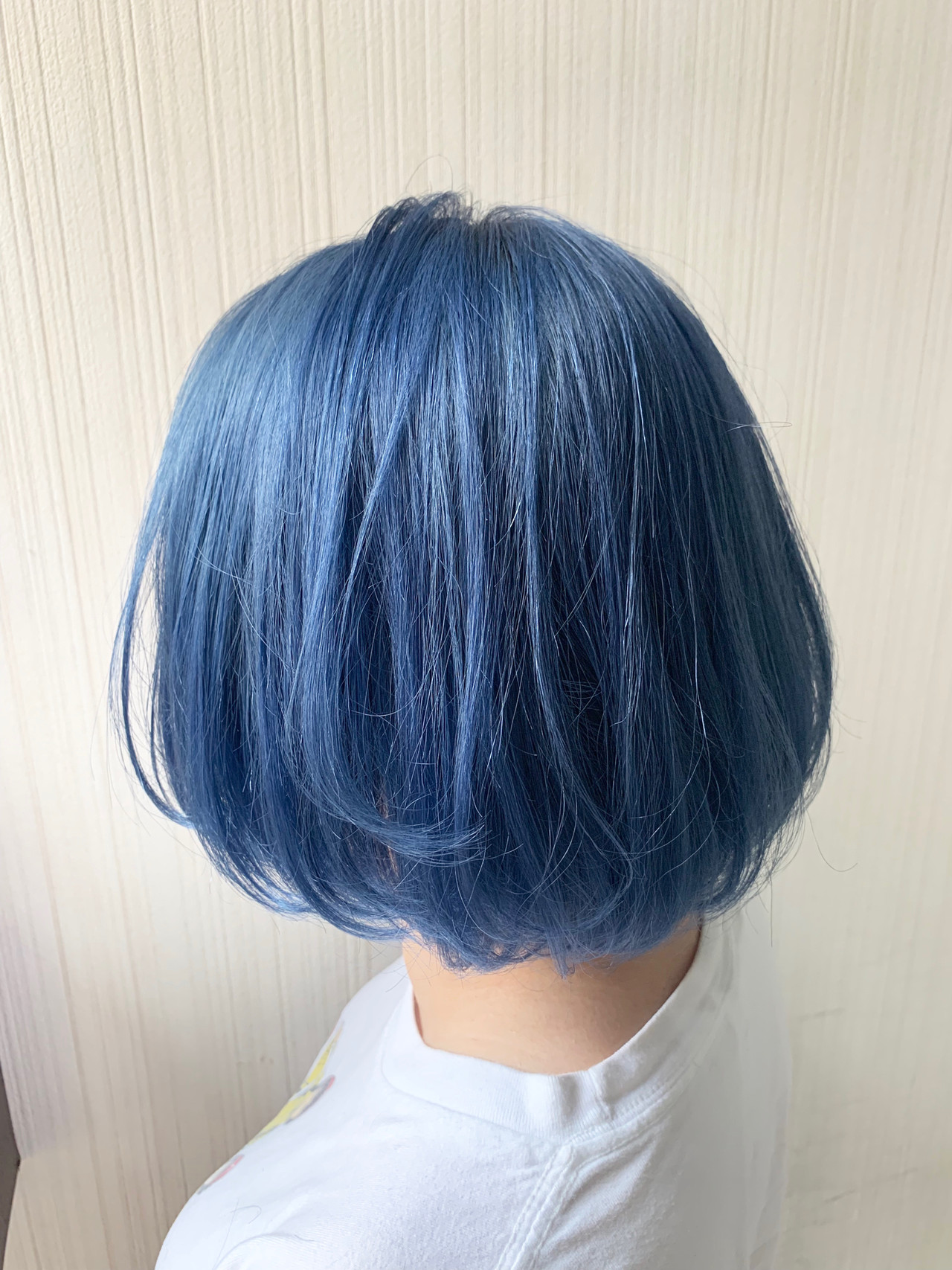 外国人風 ネイビーブルー 簡単ヘアアレンジ ナチュラル ヘアスタイルや髪型の写真・画像