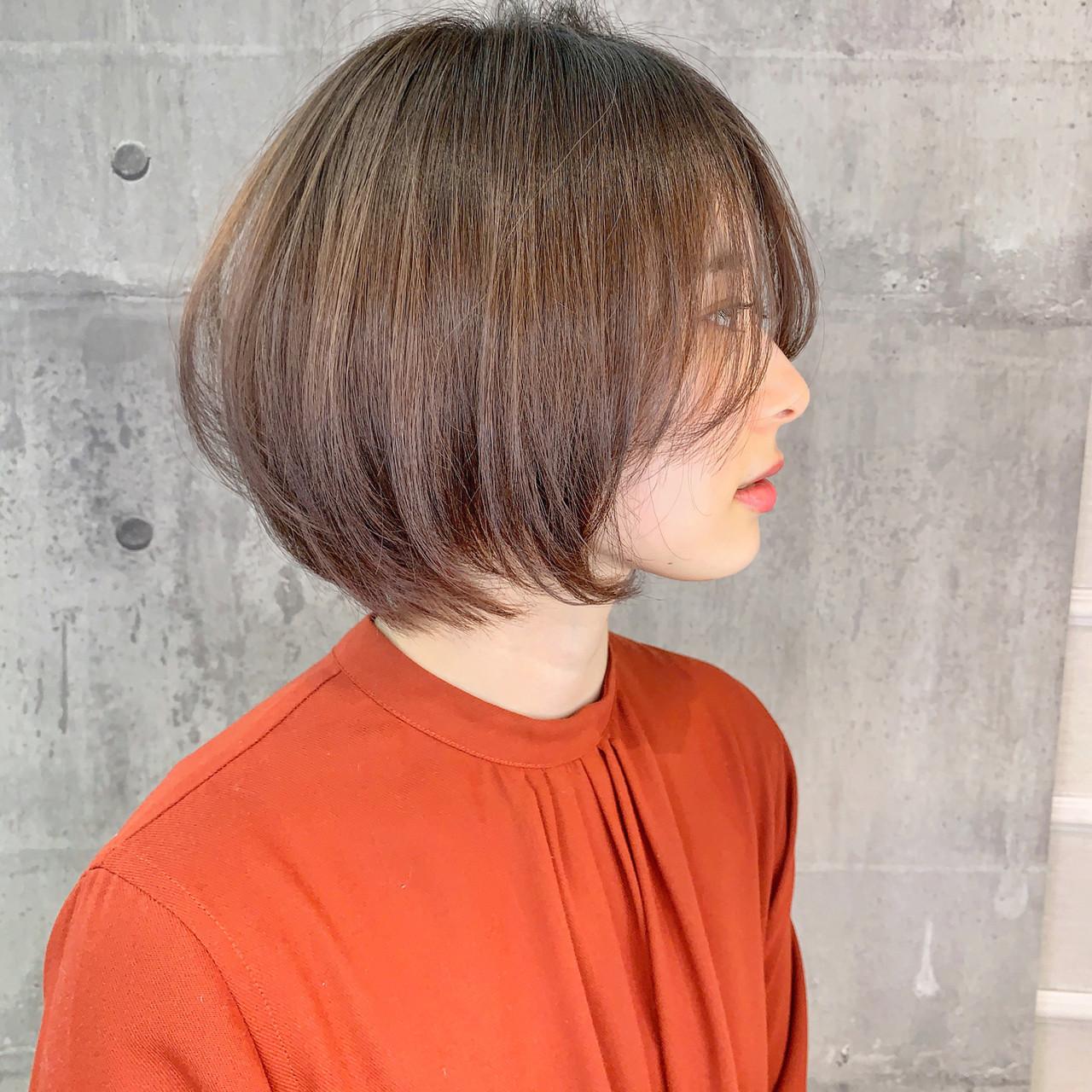 ショート イルミナカラー ショートボブ ショートヘア ヘアスタイルや髪型の写真・画像