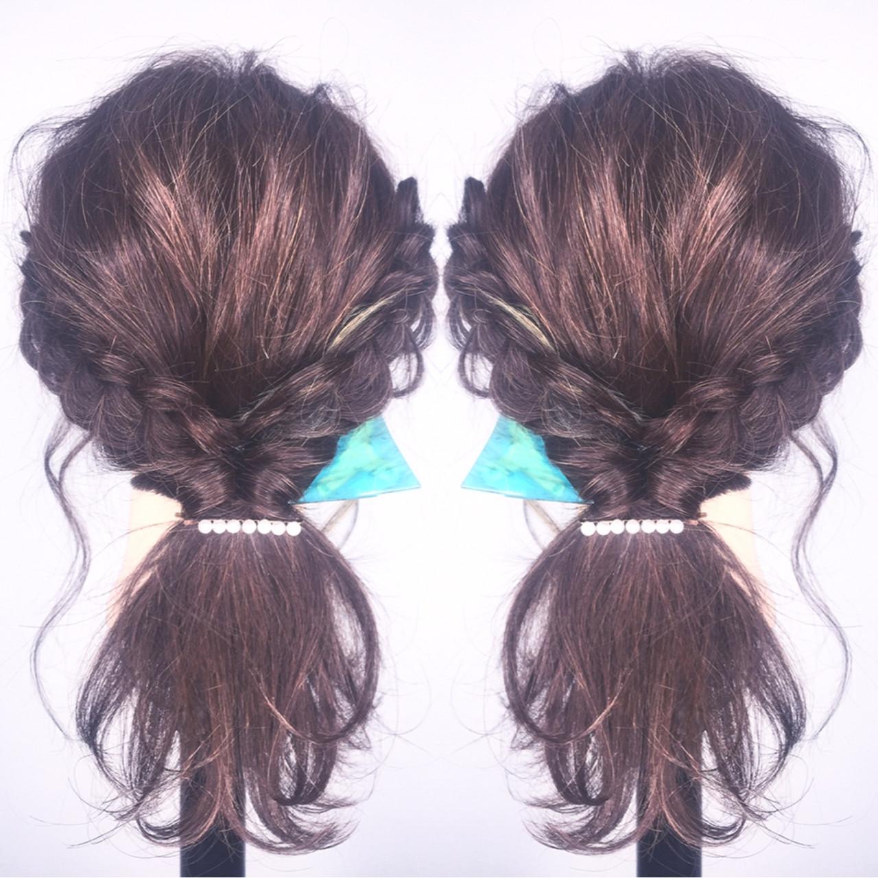 ショート 大人女子 ロング 簡単ヘアアレンジ ヘアスタイルや髪型の写真・画像   筒井 隆由 / Hair salon mode