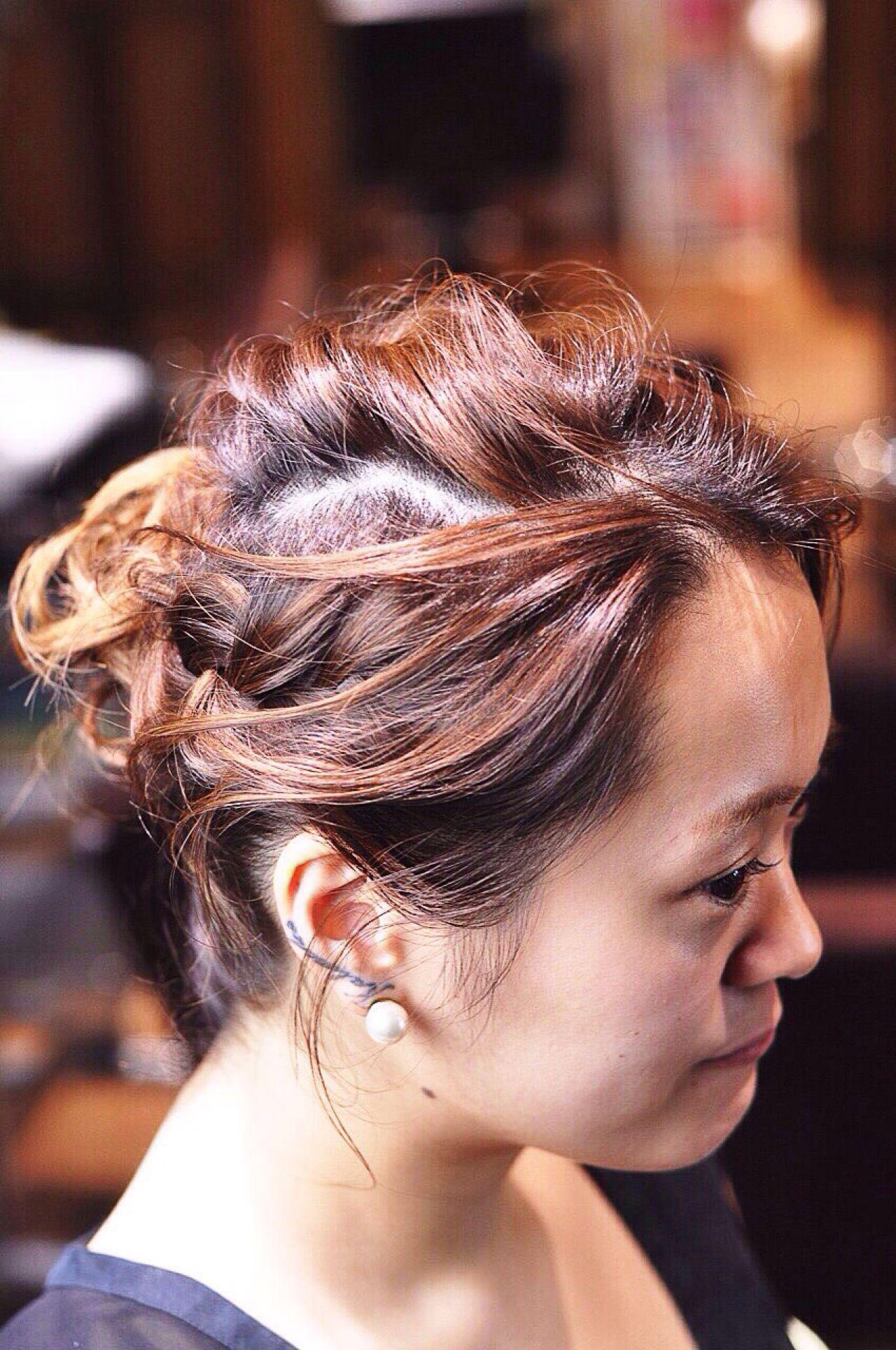 まとめ髪 モテ髪 コンサバ 愛され ヘアスタイルや髪型の写真・画像