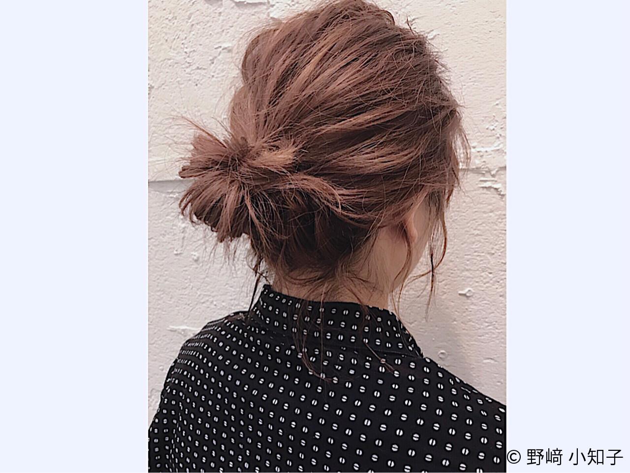 ヘアアレンジ ショート お団子 伸ばしかけ ヘアスタイルや髪型の写真・画像