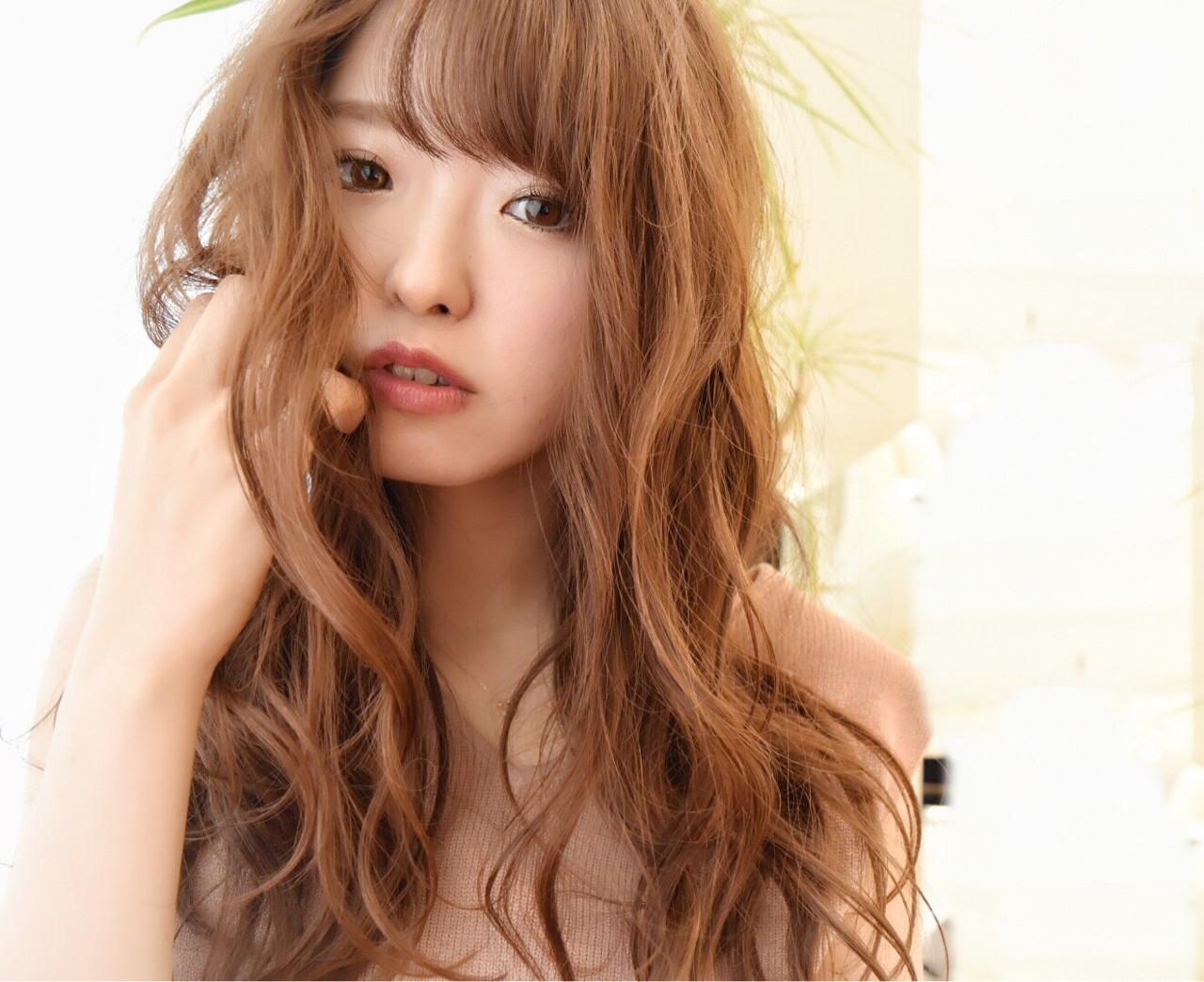 フェミニン ゆるふわ ハイライト パーマ ヘアスタイルや髪型の写真・画像
