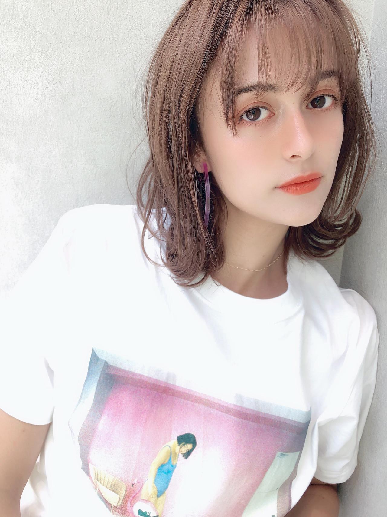 オフィス デート 簡単ヘアアレンジ ミディアム ヘアスタイルや髪型の写真・画像 | 北村 亮 / Lano by HAIR