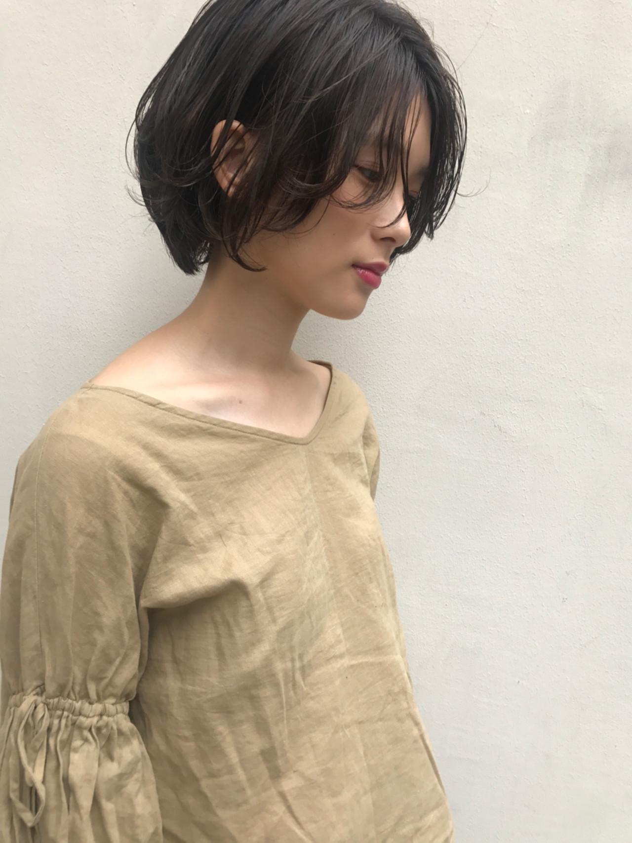 かっこいい 透明感 秋 ナチュラル ヘアスタイルや髪型の写真・画像 | 羽田ひろむ / LAiLY  by  GARDEN