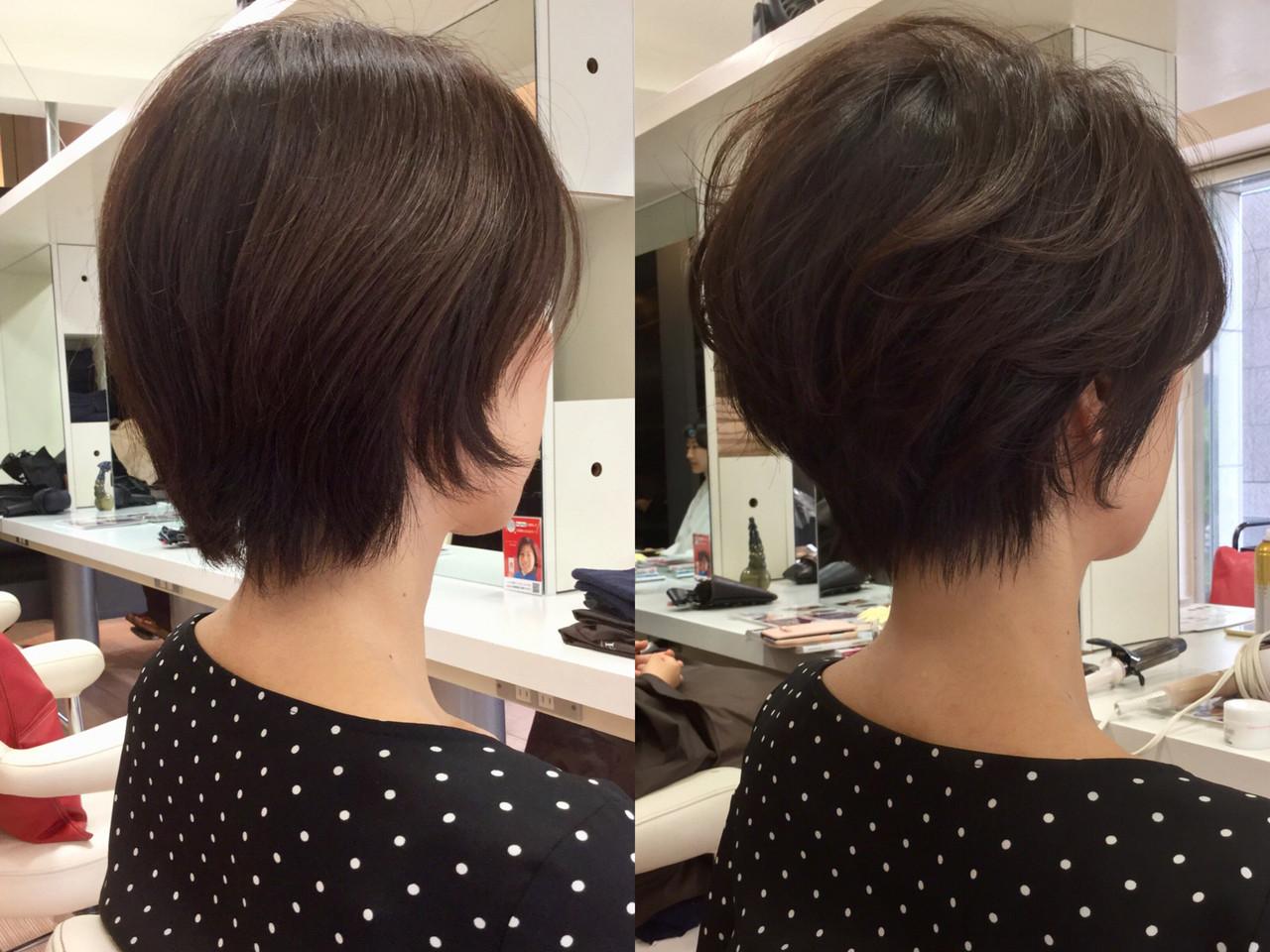 エレガント ベリーショート 小顔ショート ハンサムショート ヘアスタイルや髪型の写真・画像
