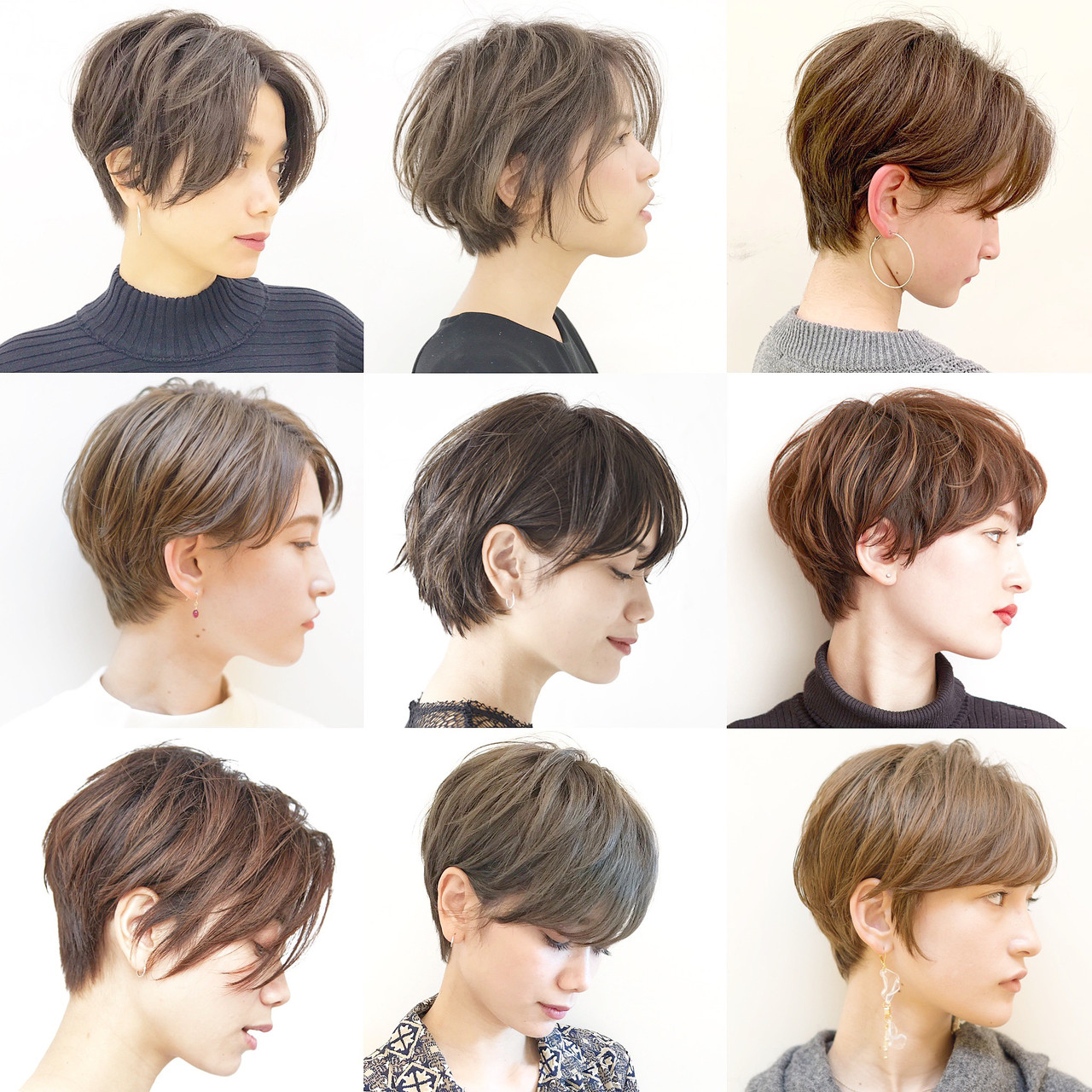 デート ショート オフィス ナチュラル ヘアスタイルや髪型の写真・画像